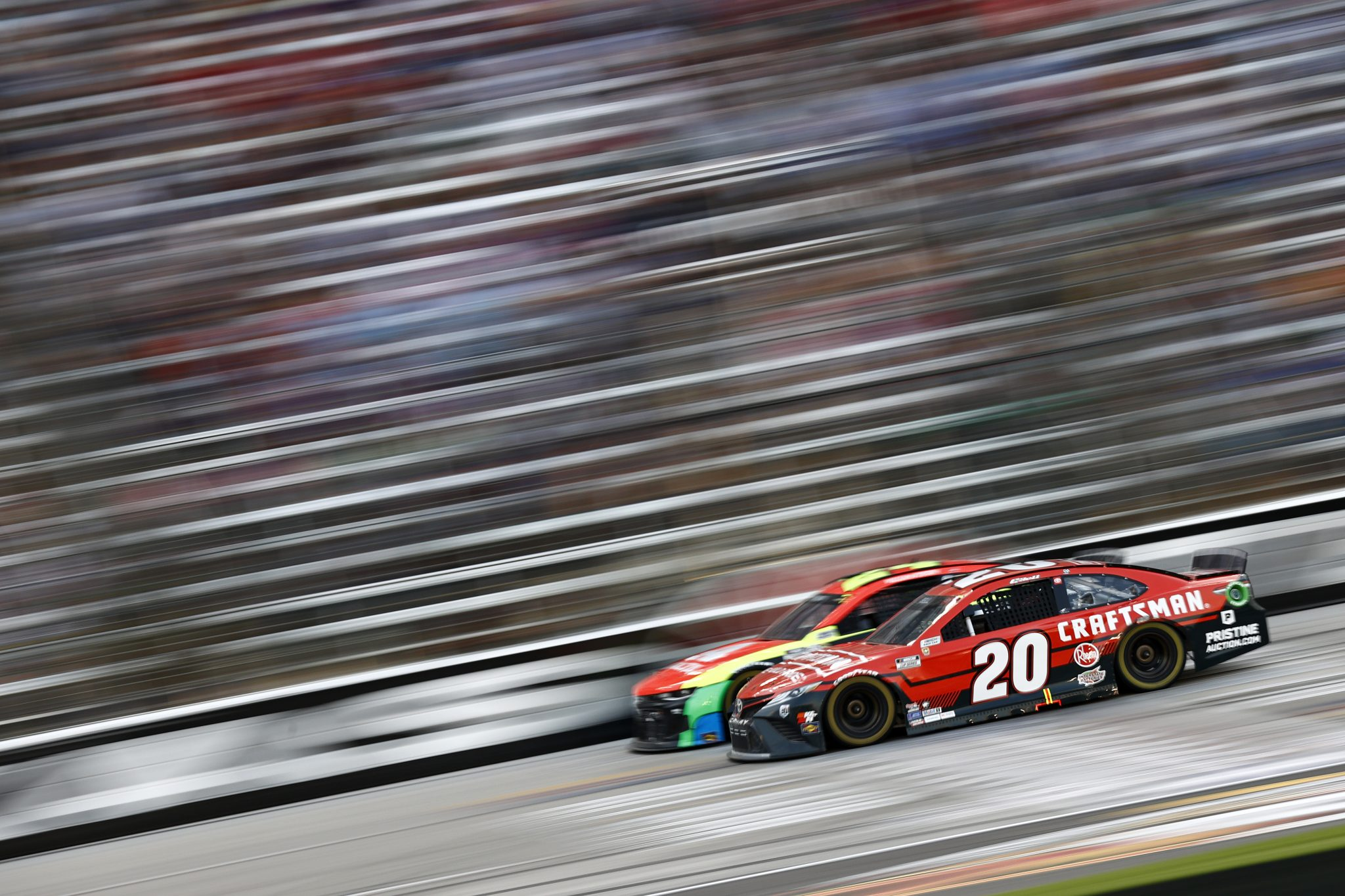 FORT WORTH, TEXAS - JUNE 13: Christopher Bell, driver of the #20 Craftsman Toyota,drives during the NASCAR All-Star Race at Texas Motor Speedway on June 13, 2021 in Fort Worth, Texas. (Photo by Jared C. Tilton/Getty Images) | Getty Images
