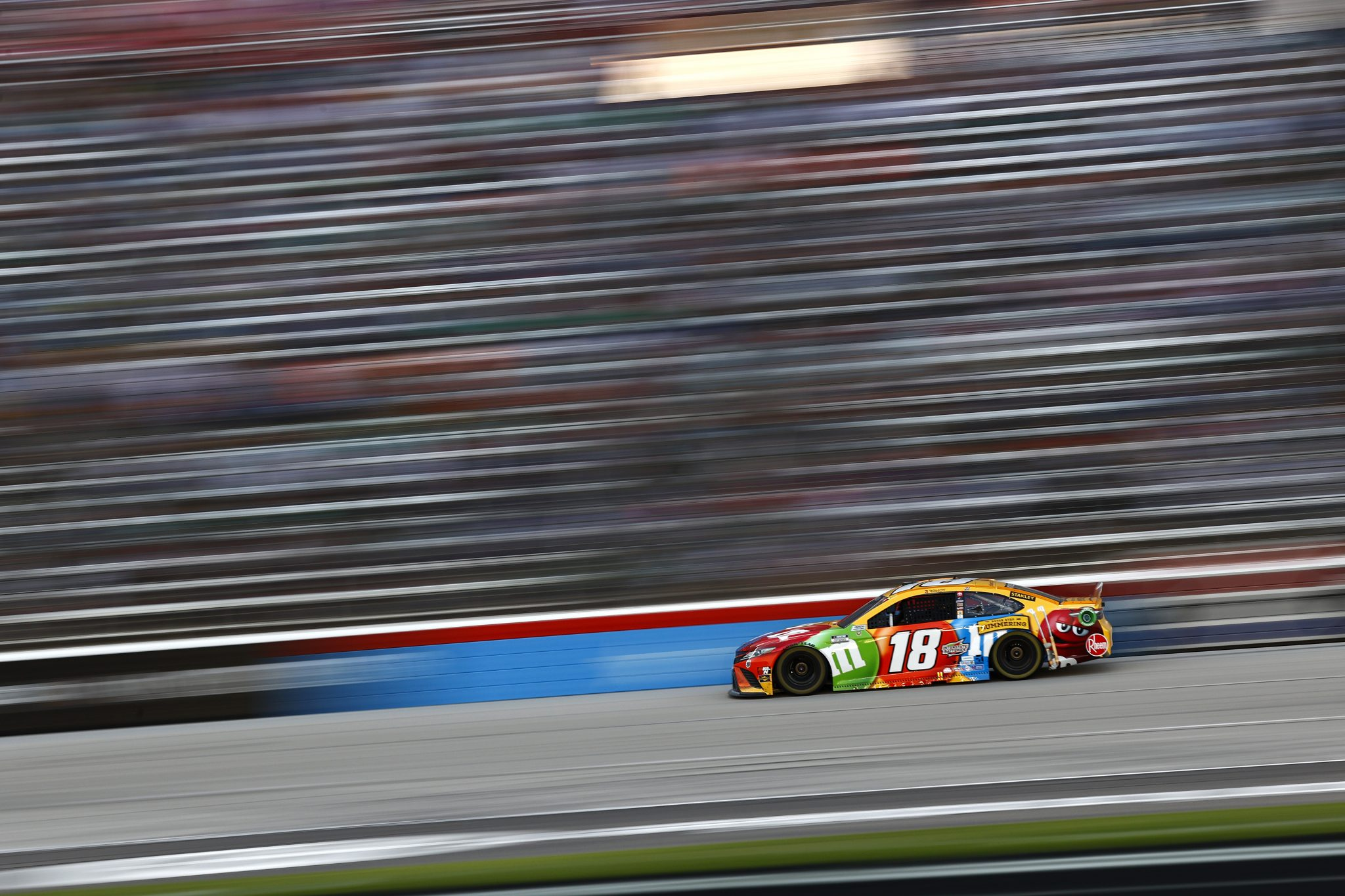 FORT WORTH, TEXAS - JUNE 13: Kyle Busch, driver of the #18 M&M's Summering Toyota, drives during the NASCAR All-Star Race at Texas Motor Speedway on June 13, 2021 in Fort Worth, Texas. (Photo by Jared C. Tilton/Getty Images) | Getty Images
