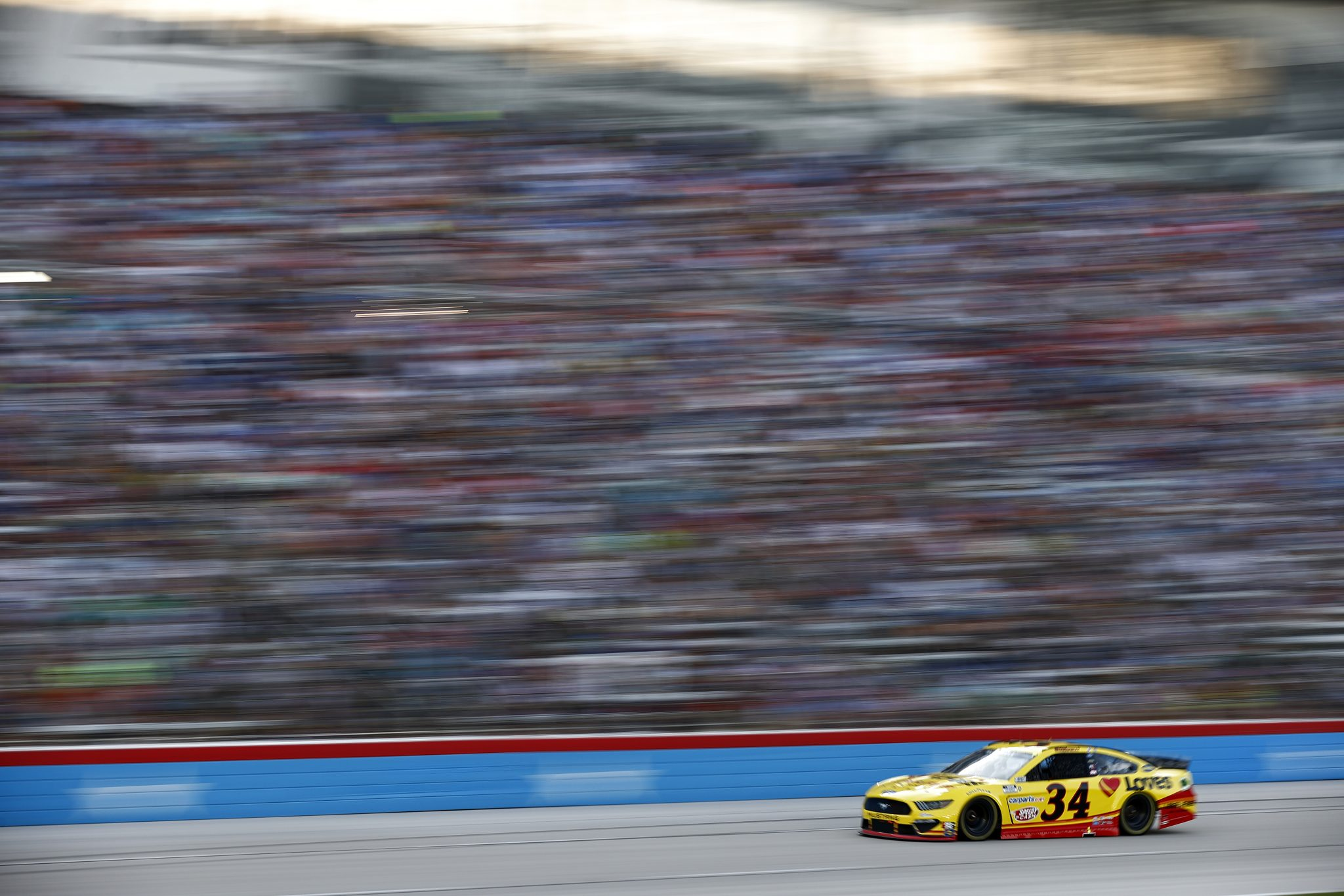 FORT WORTH, TEXAS - JUNE 13: Michael McDowell, driver of the #34 Love's Travel Stops Ford, drives during the NASCAR All-Star Race at Texas Motor Speedway on June 13, 2021 in Fort Worth, Texas. (Photo by Jared C. Tilton/Getty Images) | Getty Images
