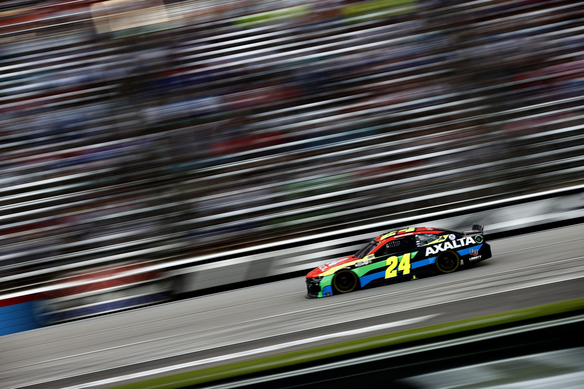 FORT WORTH, TEXAS - JUNE 13: William Byron, driver of the #24 Axalta Chevrolet, drives during the NASCAR All-Star Race at Texas Motor Speedway on June 13, 2021 in Fort Worth, Texas. (Photo by Jared C. Tilton/Getty Images)   Getty Images