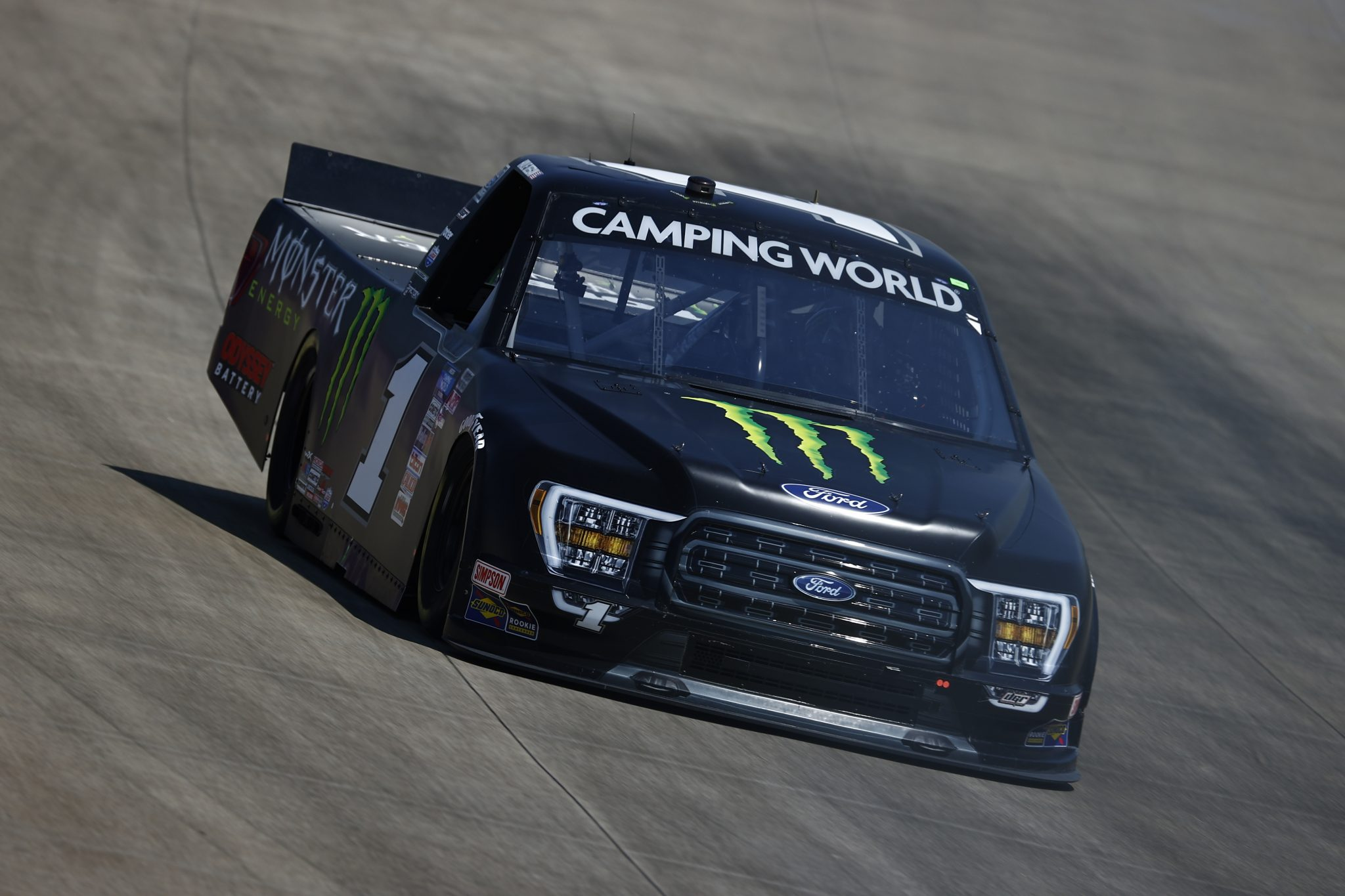 LEBANON, TENNESSEE - JUNE 18: Hailie Deegan, driver of the #1 Monster Ford, drives during practice for the NASCAR Camping World Truck Series Rackley Roofing 200 at Nashville Superspeedway on June 18, 2021 in Lebanon, Tennessee. (Photo by Jared C. Tilton/Getty Images) | Getty Images