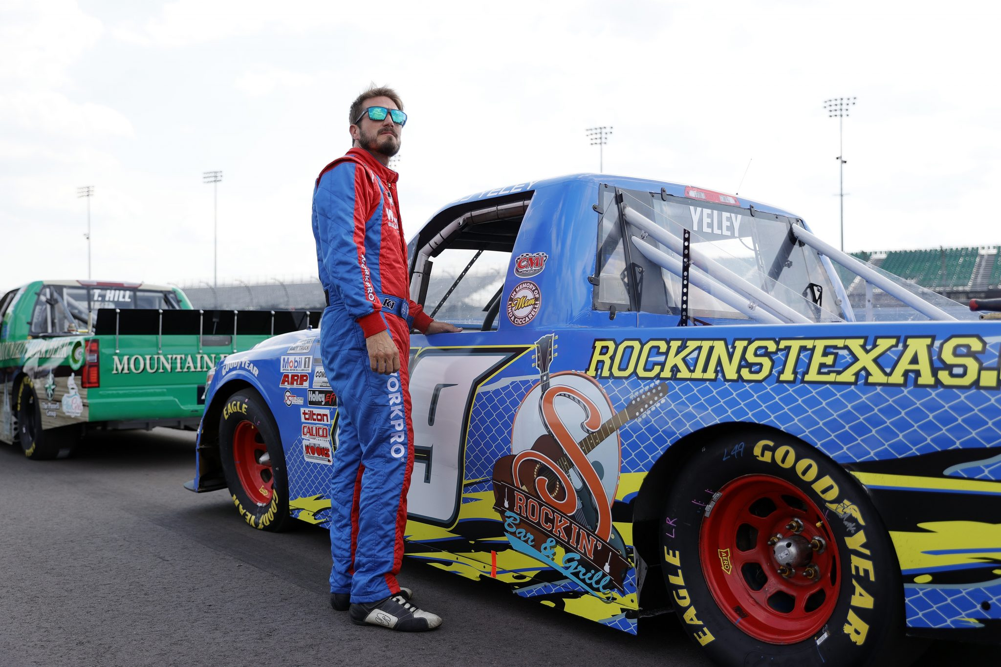LEBANON, TENNESSEE - JUNE 18: JJ Yeley, driver of the #49 Sam's Dock Toyota, waits on the grid during qualifying for the NASCAR Camping World Truck Series Rackley Roofing 200 at Nashville Superspeedway on June 18, 2021 in Lebanon, Tennessee. (Photo by Sarah Stier/Getty Images) | Getty Images