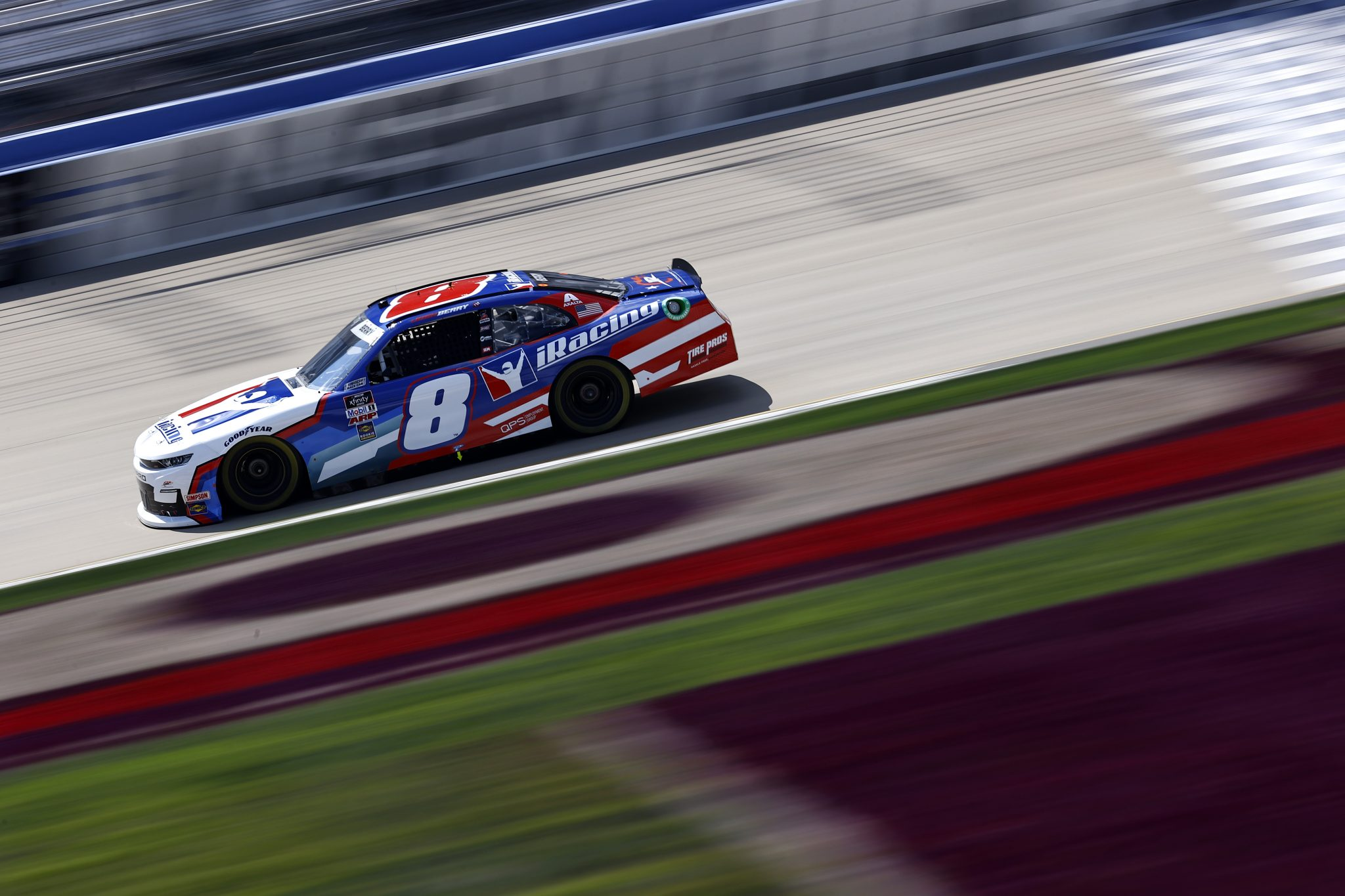 LEBANON, TENNESSEE - JUNE 18: Josh Berry, driver of the #8 iRacing Chevrolet, drives during practice for the NASCAR Xfinity Series Tennessee Lottery 250 at Nashville Superspeedway on June 18, 2021 in Lebanon, Tennessee. (Photo by Jared C. Tilton/Getty Images) | Getty Images
