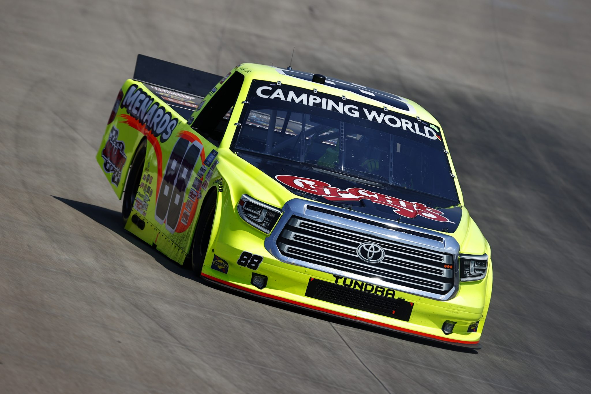 LEBANON, TENNESSEE - JUNE 18: Matt Crafton, driver of the #88 Chi Chi's/Menards Toyota, drives during practice for the NASCAR Camping World Truck Series Rackley Roofing 200 at Nashville Superspeedway on June 18, 2021 in Lebanon, Tennessee. (Photo by Jared C. Tilton/Getty Images) | Getty Images