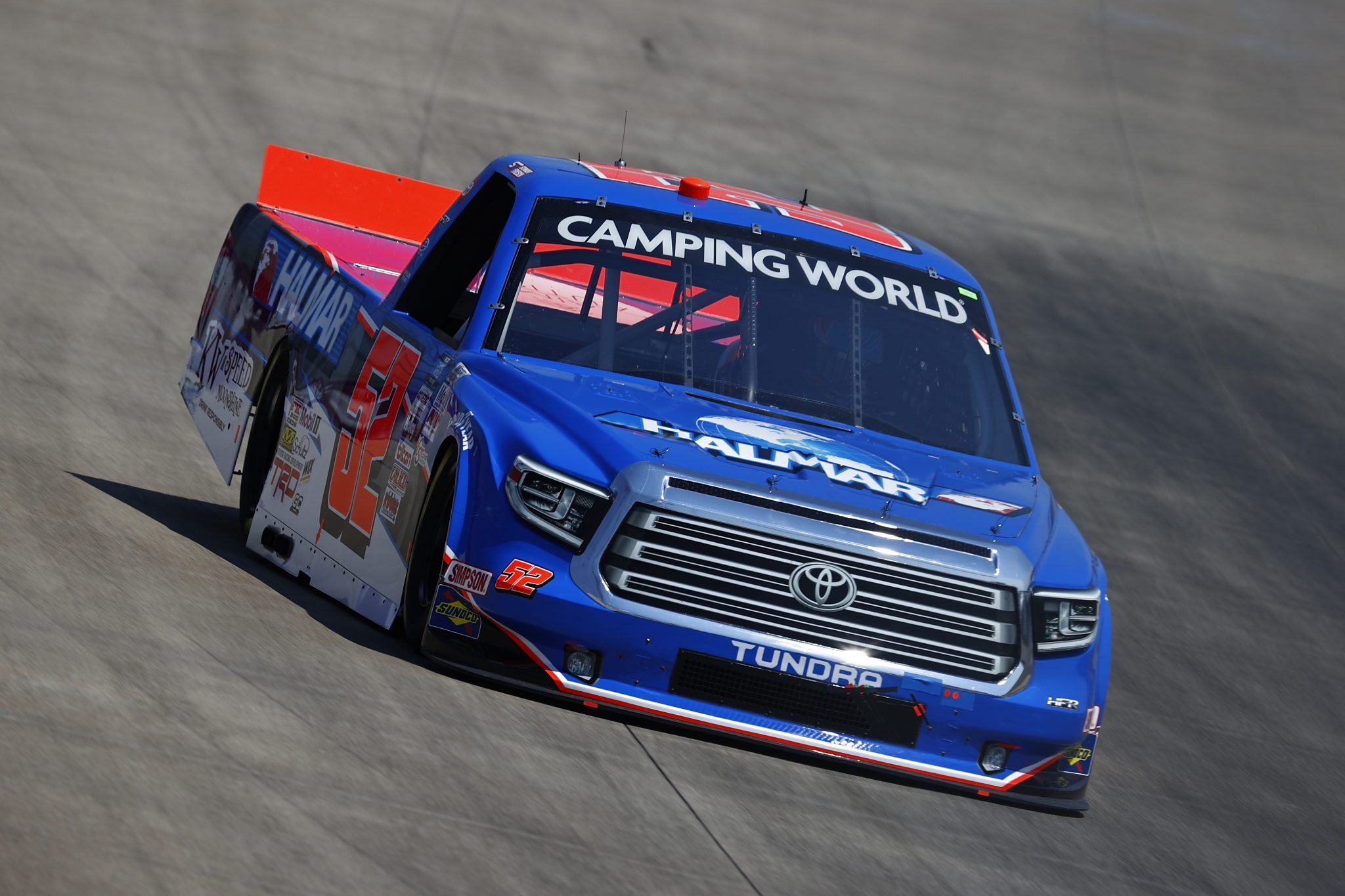 LEBANON, TENNESSEE - JUNE 18: Stewart Friesen, driver of the #52 Halmar International Toyota, drives during practice for the NASCAR Camping World Truck Series Rackley Roofing 200 at Nashville Superspeedway on June 18, 2021 in Lebanon, Tennessee. (Photo by Jared C. Tilton/Getty Images) | Getty Images