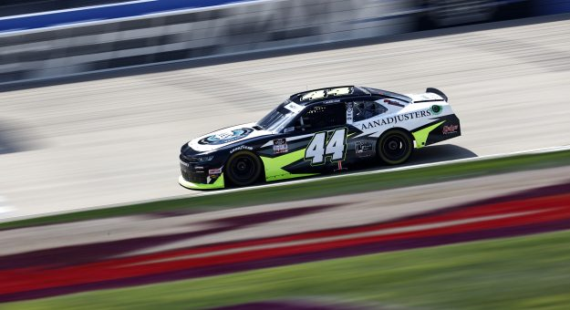 LEBANON, TENNESSEE - JUNE 18: Tommy Joe Martins, driver of the #44 AAN Adjusters Chevrolet, drives during practice for the NASCAR Xfinity Series Tennessee Lottery 250 at Nashville Superspeedway on June 18, 2021 in Lebanon, Tennessee. (Photo by Jared C. Tilton/Getty Images) | Getty Images