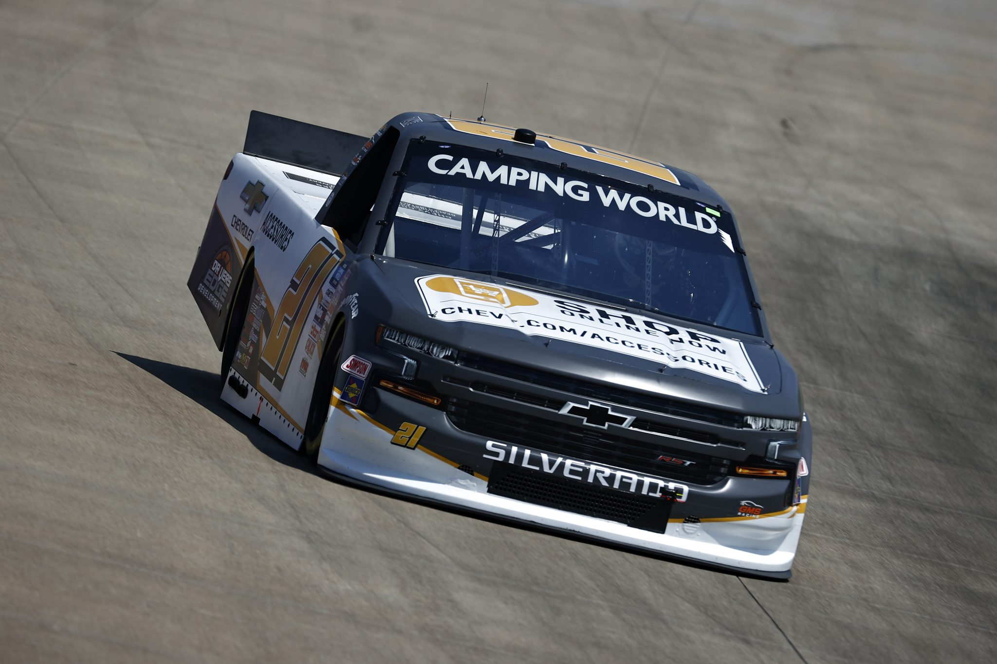 LEBANON, TENNESSEE - JUNE 18: Zane Smith, driver of the #21 Chevy.com/Accessories Chevrolet, drives during practice for the NASCAR Camping World Truck Series Rackley Roofing 200 at Nashville Superspeedway on June 18, 2021 in Lebanon, Tennessee. (Photo by Jared C. Tilton/Getty Images) | Getty Images
