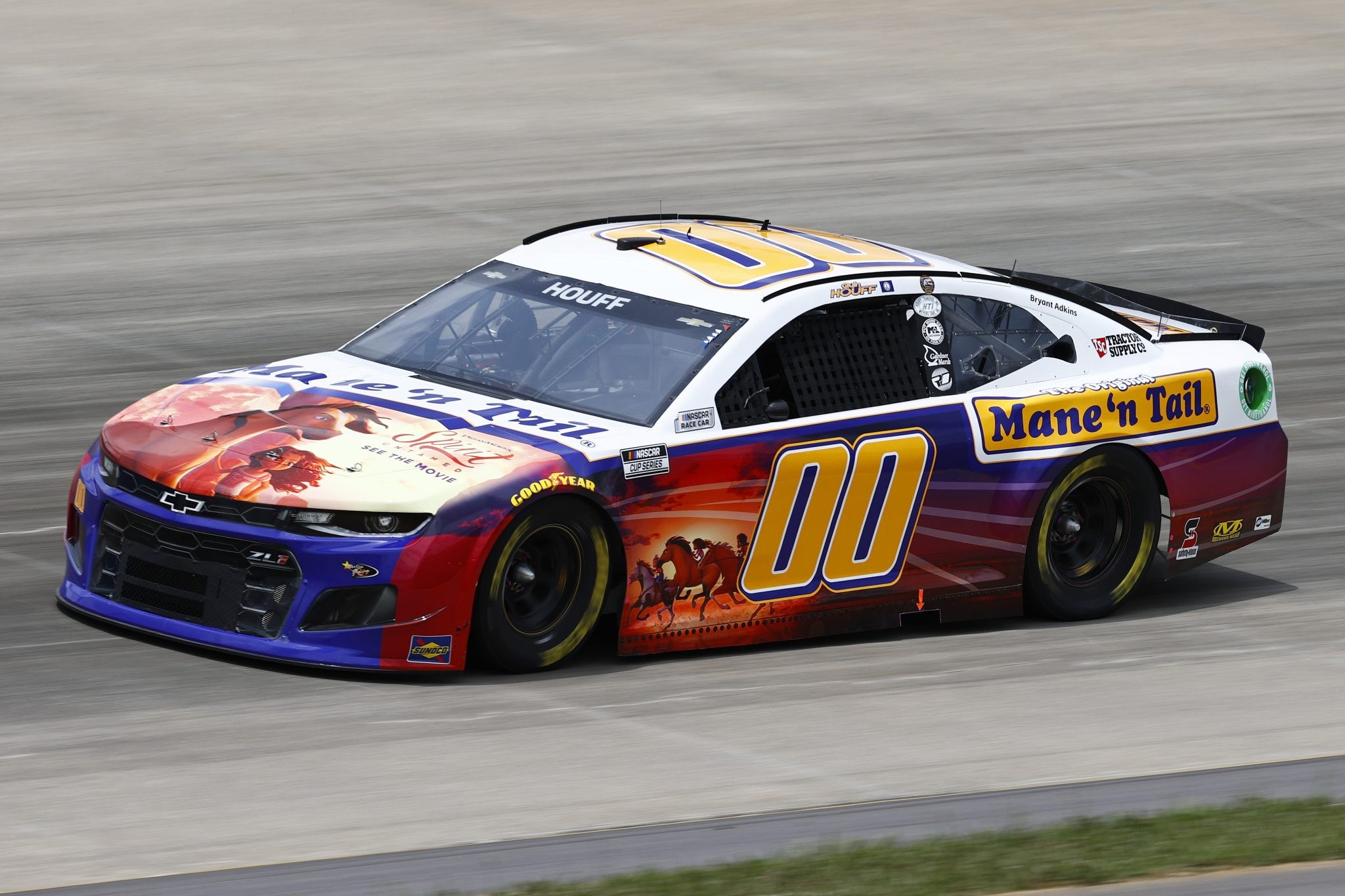 LEBANON, TENNESSEE - JUNE 19: Quin Houff, driver of the #00 Mane 'n Tail/Spirit Untamed Chevrolet, drives during practice for the NASCAR Cup Series Ally 400 at Nashville Superspeedway on June 19, 2021 in Lebanon, Tennessee. (Photo by Jared C. Tilton/Getty Images)   Getty Images