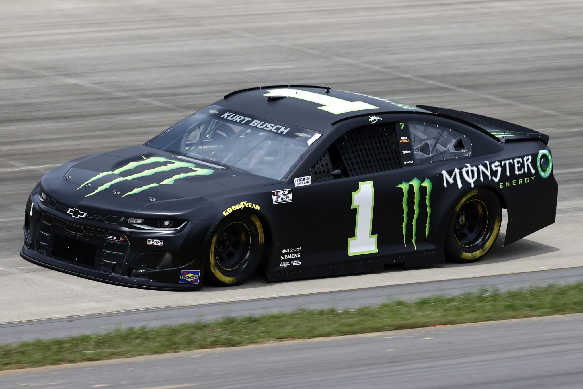 LEBANON, TENNESSEE - JUNE 19: Kurt Busch, driver of the #1 Monster Energy Chevrolet, drives during practice for the NASCAR Cup Series Ally 400 at Nashville Superspeedway on June 19, 2021 in Lebanon, Tennessee. (Photo by Jared C. Tilton/Getty Images) | Getty Images