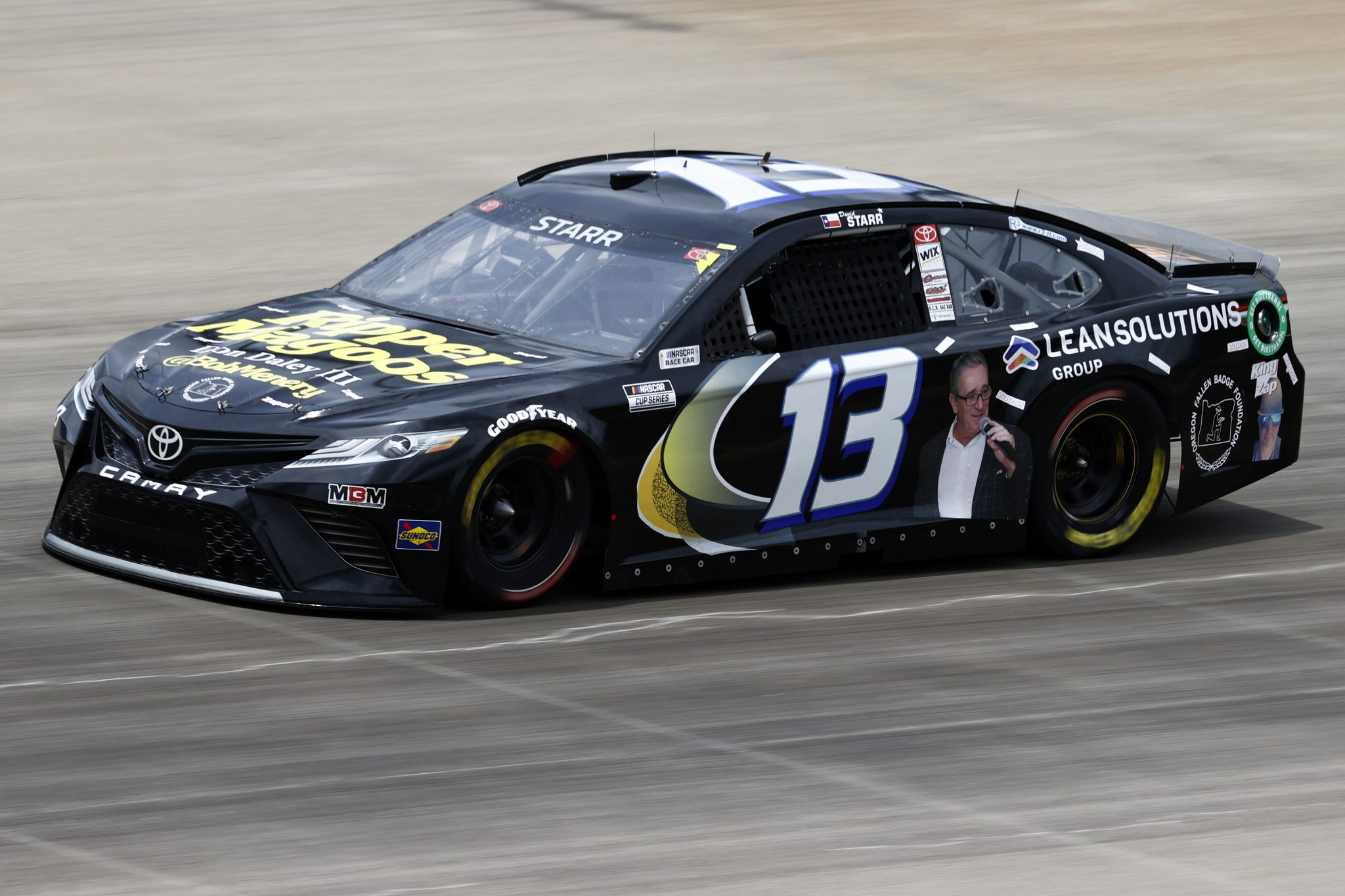 LEBANON, TENNESSEE - JUNE 19: David Starr, driver of the #13 Bob Menery Toyota, drives during practice for the NASCAR Cup Series Ally 400 at Nashville Superspeedway on June 19, 2021 in Lebanon, Tennessee. (Photo by Jared C. Tilton/Getty Images) | Getty Images