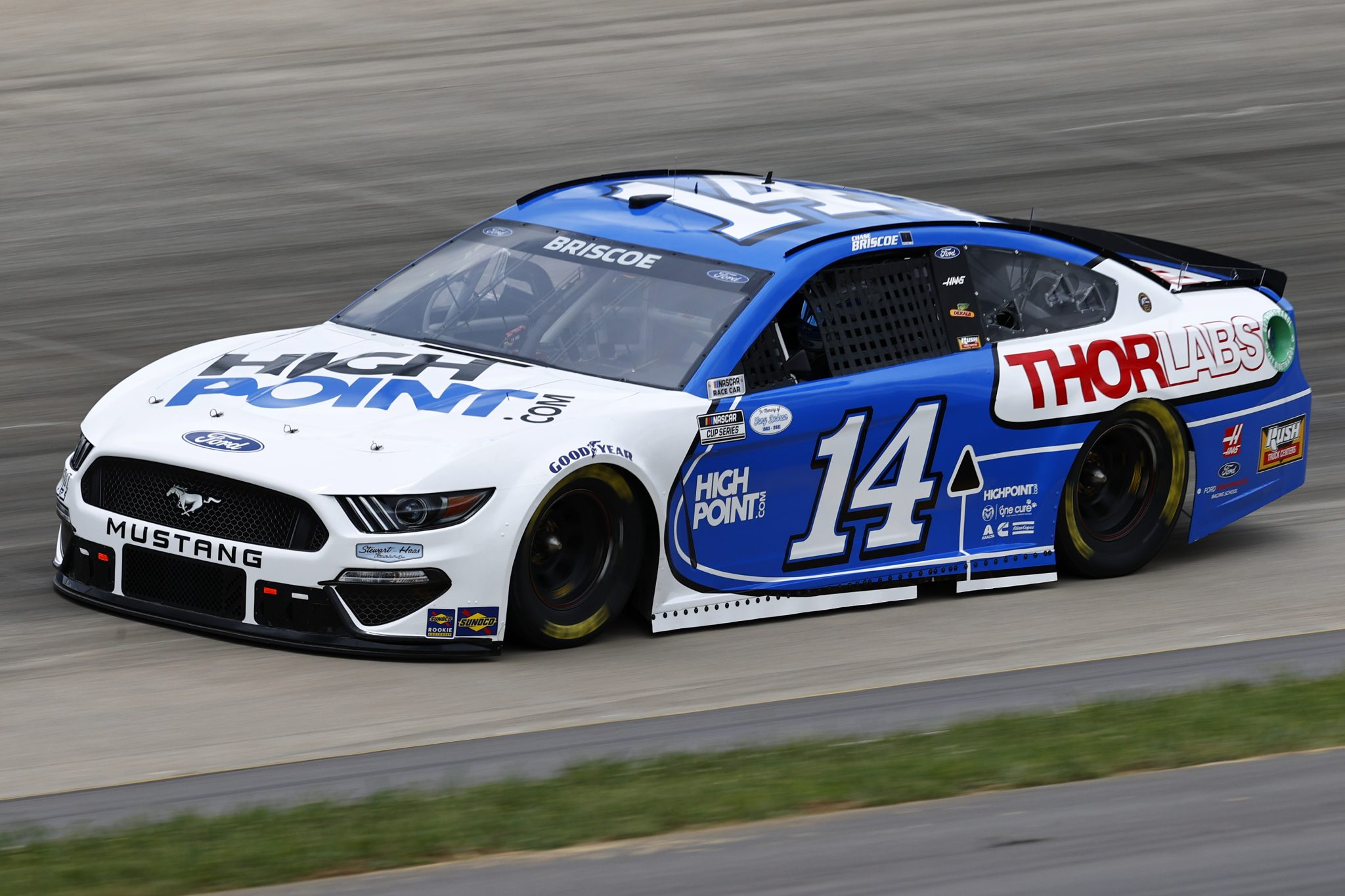 LEBANON, TENNESSEE - JUNE 19: Chase Briscoe, driver of the #14 HighPoint.com/Thorlabs Ford, drives during practice for the NASCAR Cup Series Ally 400 at Nashville Superspeedway on June 19, 2021 in Lebanon, Tennessee. (Photo by Jared C. Tilton/Getty Images)   Getty Images