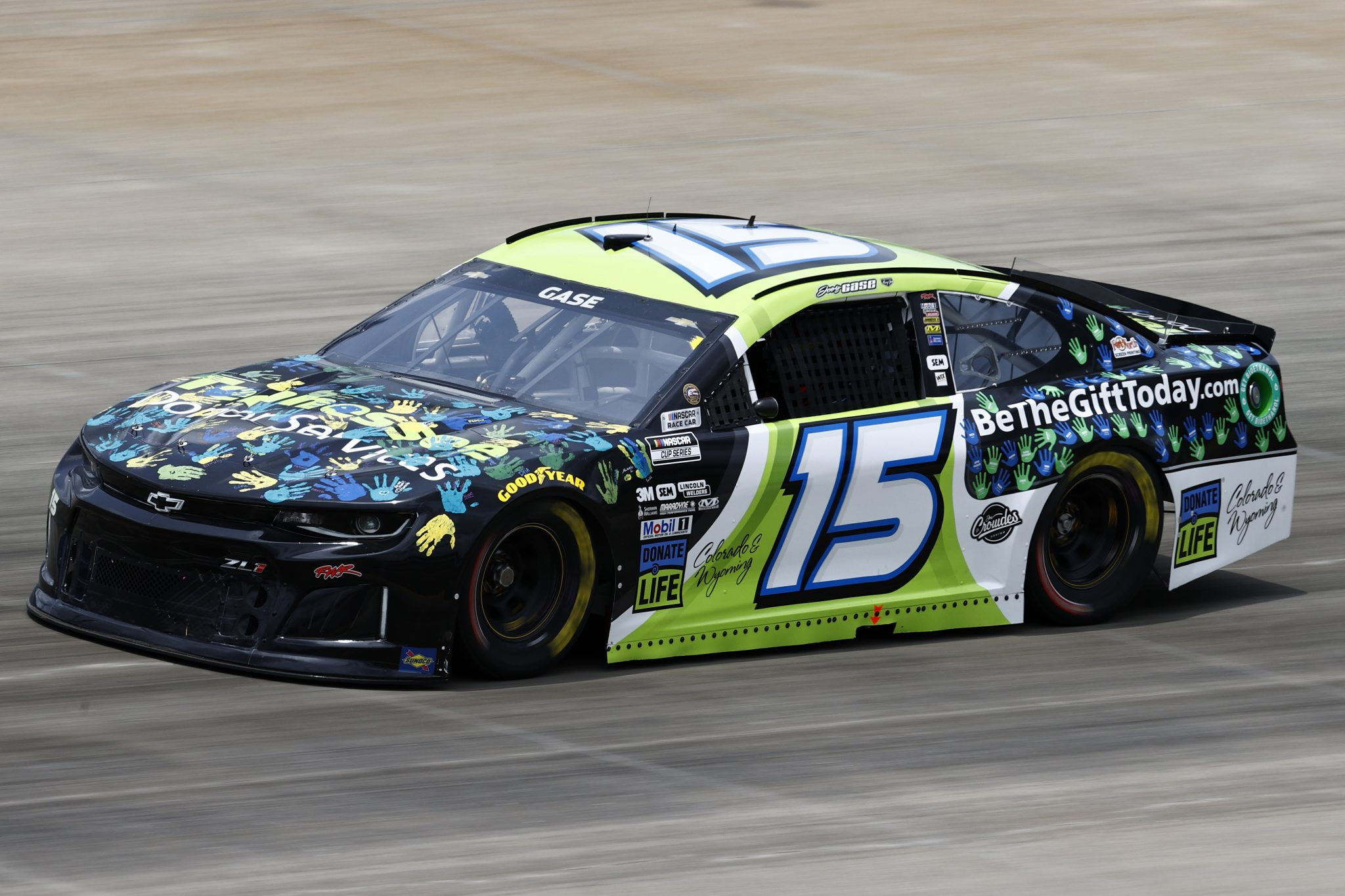 LEBANON, TENNESSEE - JUNE 19: Joey Gase, driver of the #15 Tennessee Donor Services/Donate Life Chevrolet, drives during practice for the NASCAR Cup Series Ally 400 at Nashville Superspeedway on June 19, 2021 in Lebanon, Tennessee. (Photo by Jared C. Tilton/Getty Images)   Getty Images