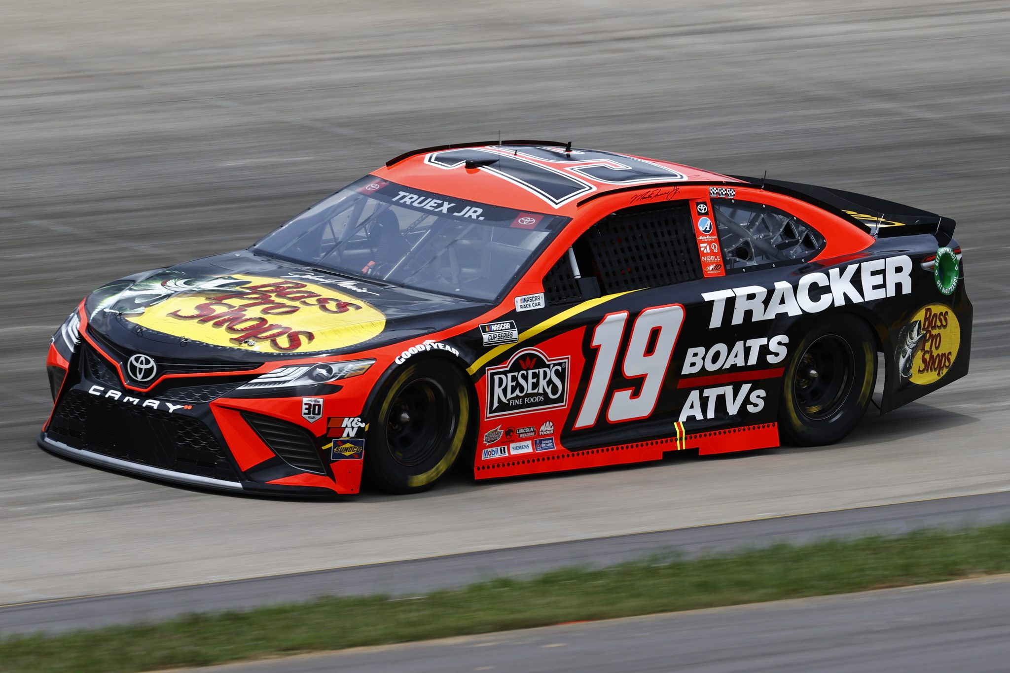 LEBANON, TENNESSEE - JUNE 19: Martin Truex Jr., driver of the #19 Bass Pro Toyota, drives during practice for the NASCAR Cup Series Ally 400 at Nashville Superspeedway on June 19, 2021 in Lebanon, Tennessee. (Photo by Jared C. Tilton/Getty Images)   Getty Images