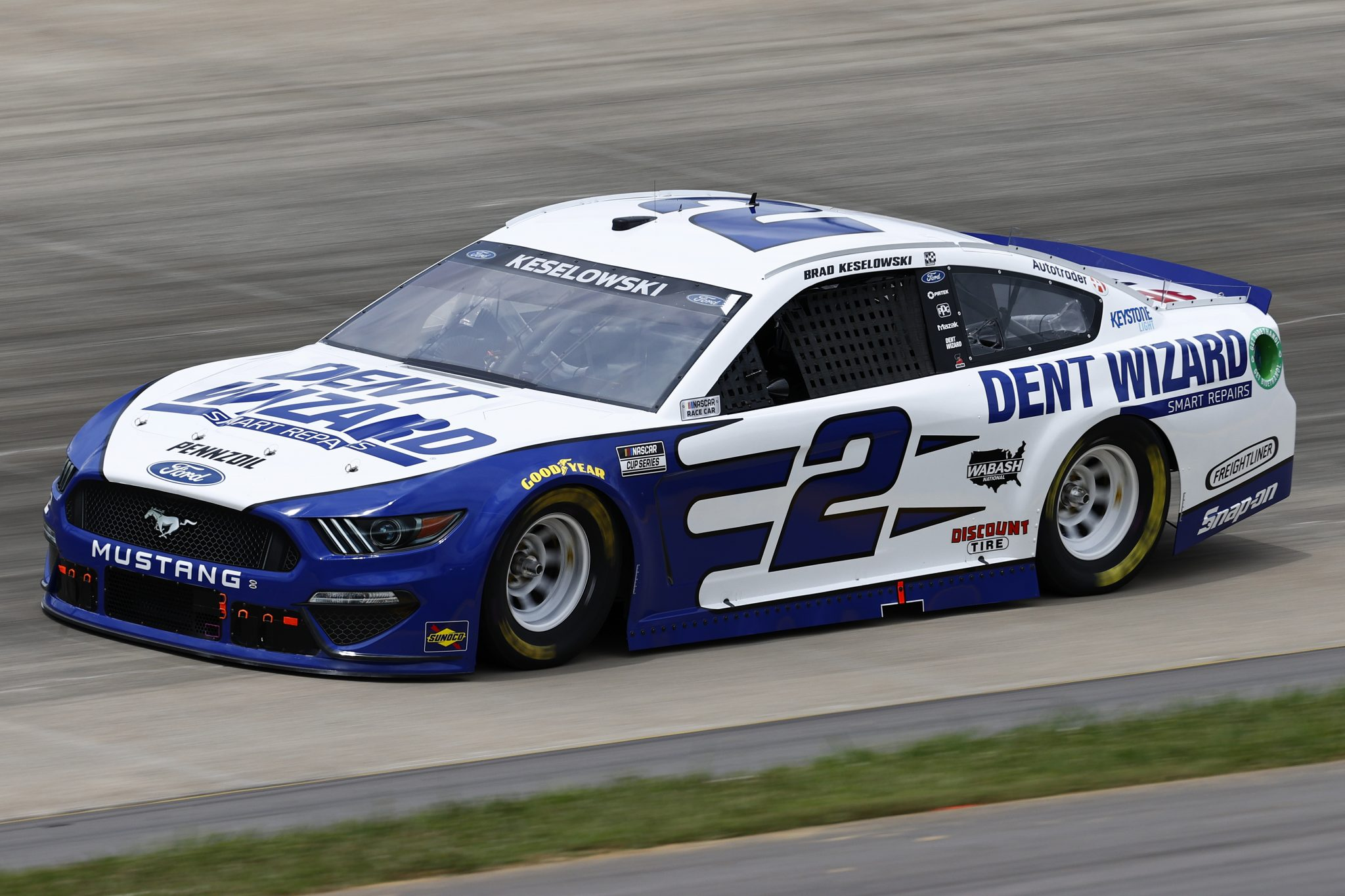 LEBANON, TENNESSEE - JUNE 19:Brad Keselowski, driver of the #2 Dent Wizard Ford, drives during practice for the NASCAR Cup Series Ally 400 at Nashville Superspeedway on June 19, 2021 in Lebanon, Tennessee. (Photo by Jared C. Tilton/Getty Images)   Getty Images