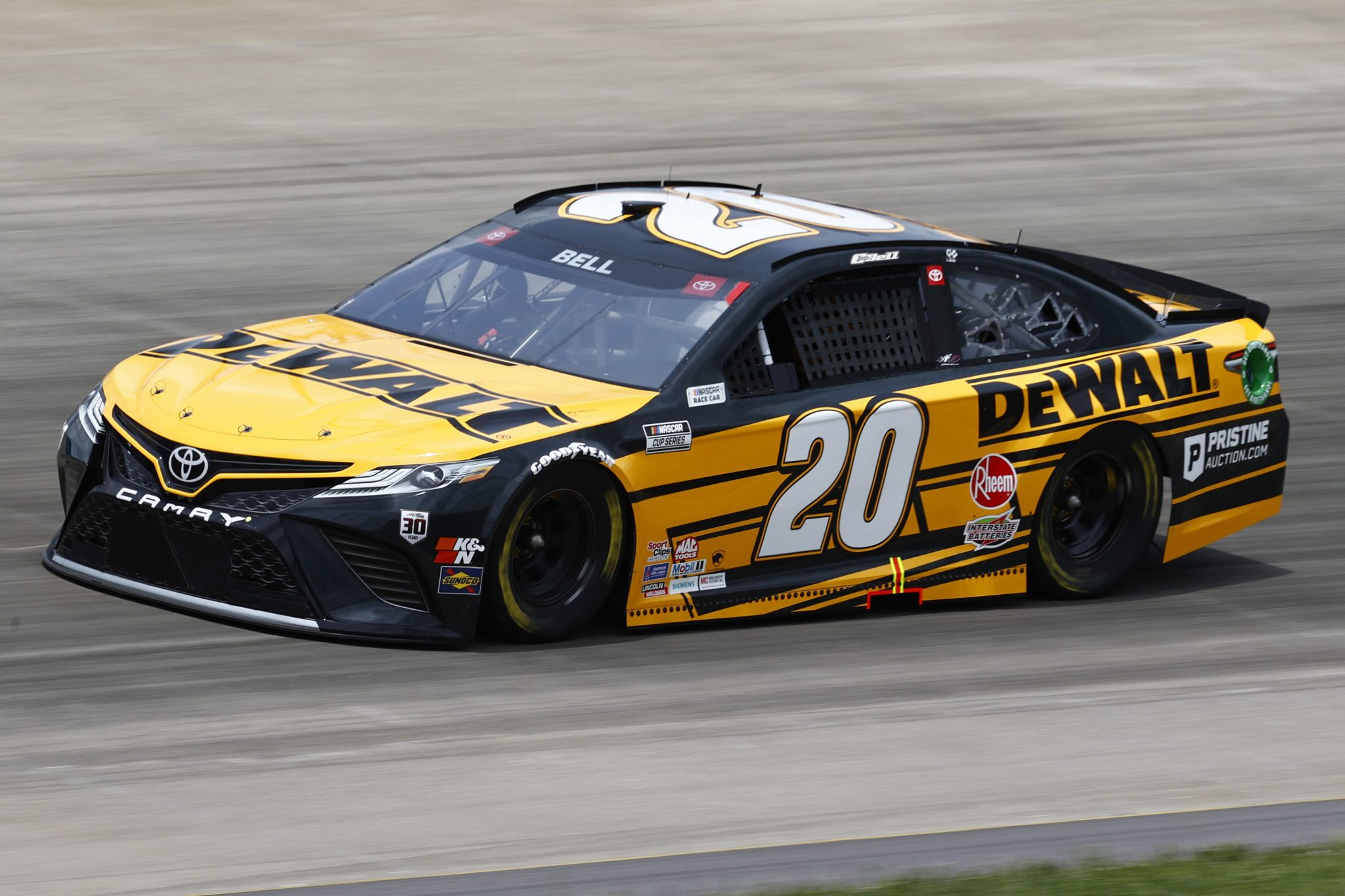 LEBANON, TENNESSEE - JUNE 19: Christopher Bell, driver of the #20 DEWALT Toyota, drives during practice for the NASCAR Cup Series Ally 400 at Nashville Superspeedway on June 19, 2021 in Lebanon, Tennessee. (Photo by Jared C. Tilton/Getty Images) | Getty Images