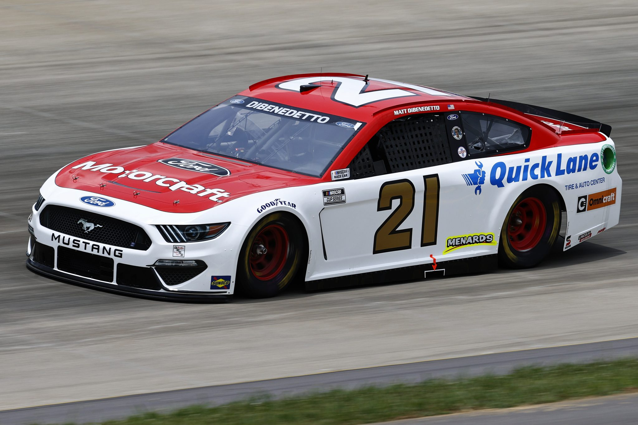 LEBANON, TENNESSEE - JUNE 19: Matt DiBenedetto, driver of the #21 Motorcraft/Quick Lane Ford, drives during practice for the NASCAR Cup Series Ally 400 at Nashville Superspeedway on June 19, 2021 in Lebanon, Tennessee. (Photo by Jared C. Tilton/Getty Images)   Getty Images