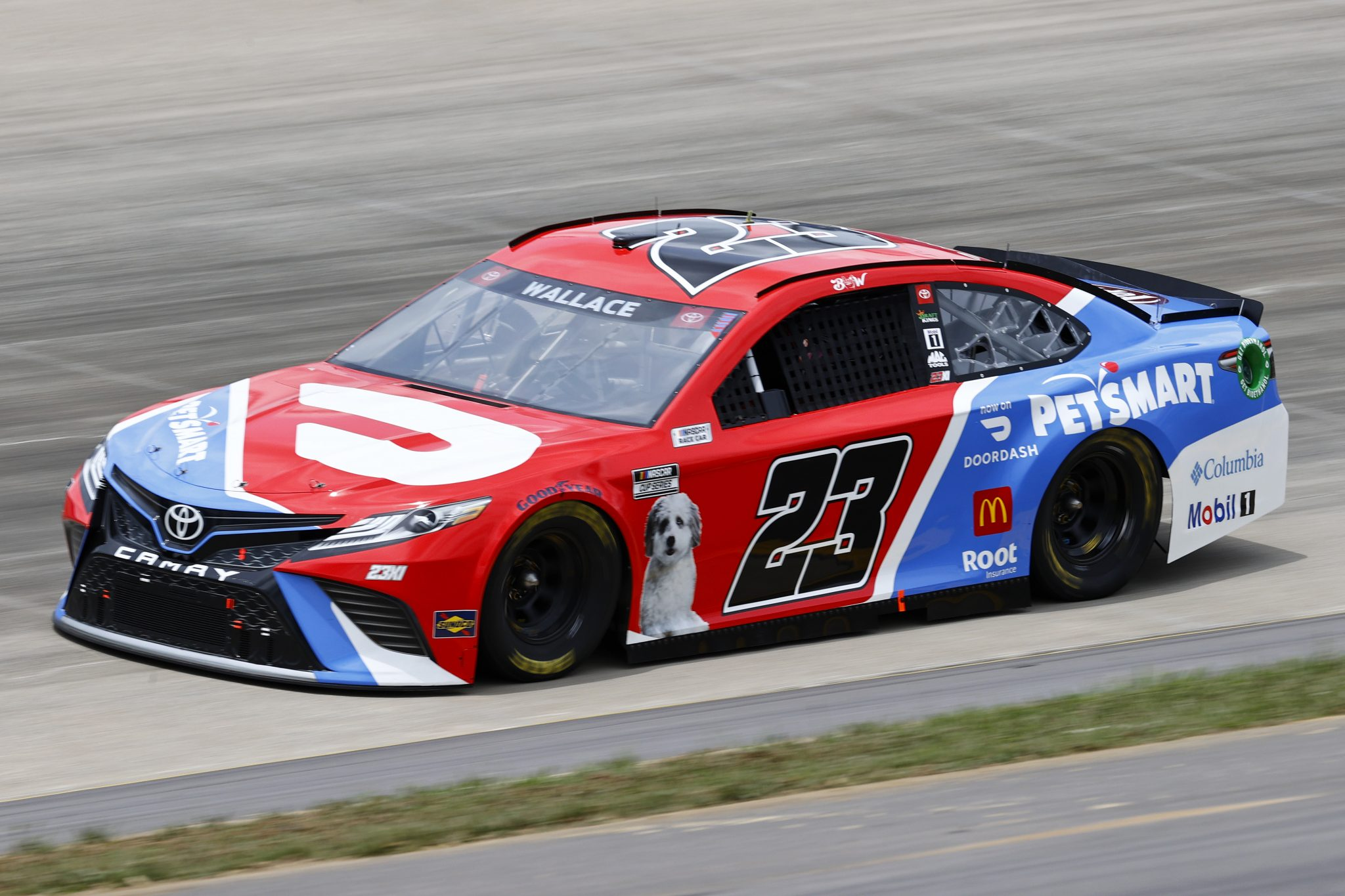 LEBANON, TENNESSEE - JUNE 19: Bubba Wallace, driver of the #23 DoorDash/PetSmart Toyota, drives during practice for the NASCAR Cup Series Ally 400 at Nashville Superspeedway on June 19, 2021 in Lebanon, Tennessee. (Photo by Jared C. Tilton/Getty Images)   Getty Images
