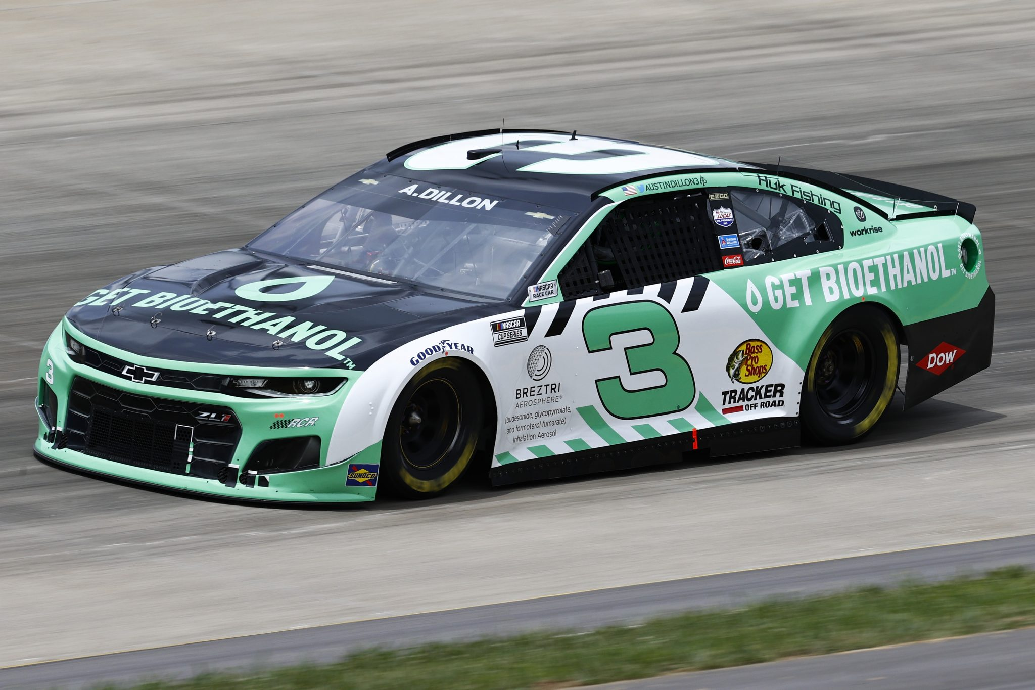 LEBANON, TENNESSEE - JUNE 19: Austin Dillon, driver of the #3 Get Bioethanol Chevrolet, drives during practice for the NASCAR Cup Series Ally 400 at Nashville Superspeedway on June 19, 2021 in Lebanon, Tennessee. (Photo by Jared C. Tilton/Getty Images)   Getty Images