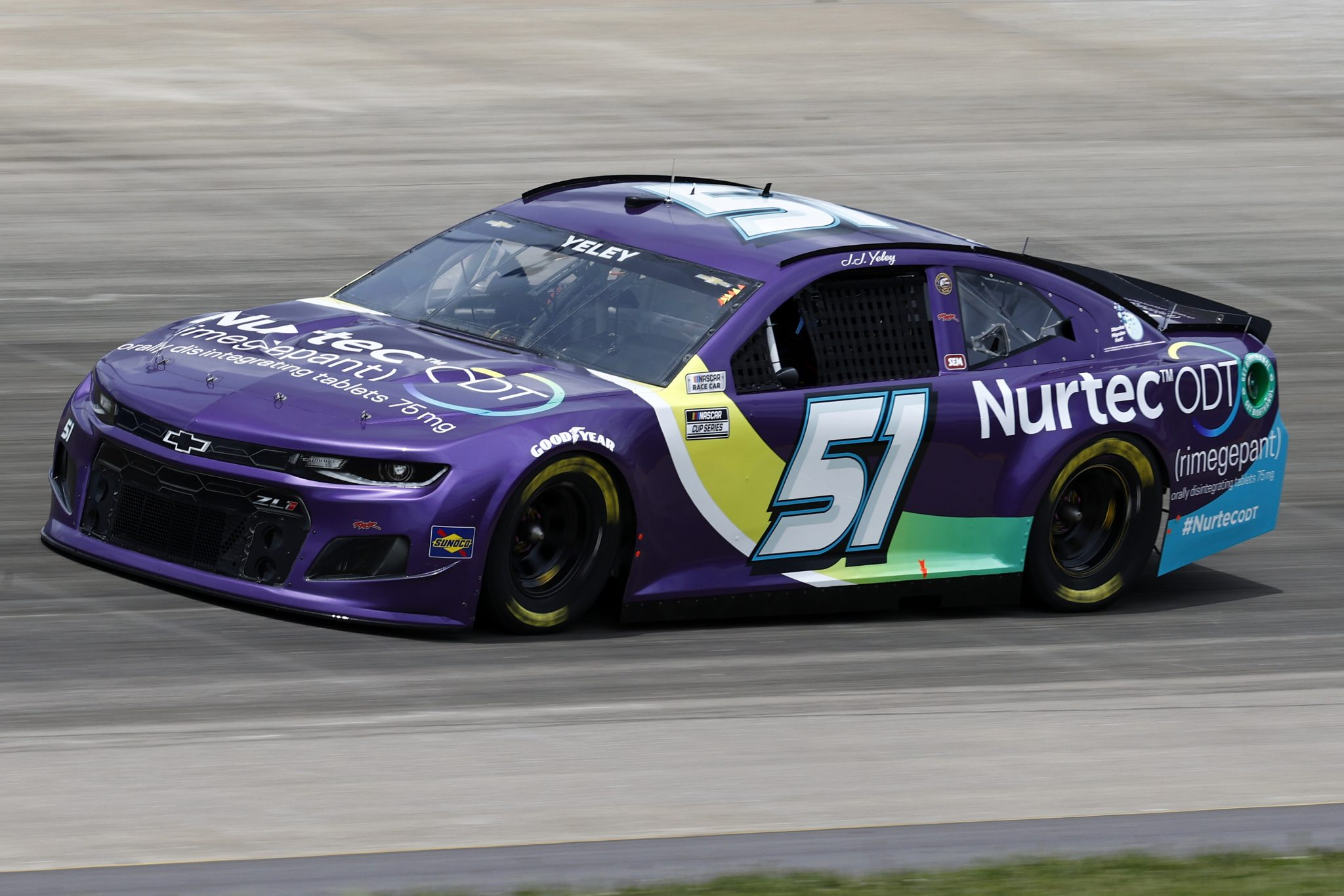 LEBANON, TENNESSEE - JUNE 19: JJ Yeley, driver of the #51 Nurtec ODT Chevrolet, drives during practice for the NASCAR Cup Series Ally 400 at Nashville Superspeedway on June 19, 2021 in Lebanon, Tennessee. (Photo by Jared C. Tilton/Getty Images) | Getty Images