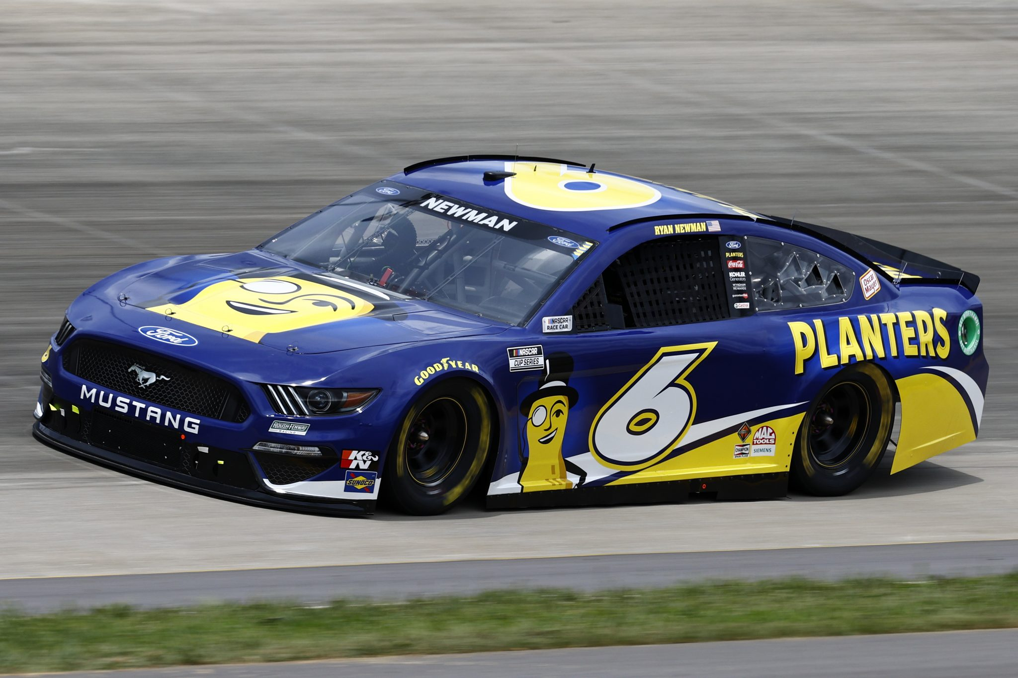 LEBANON, TENNESSEE - JUNE 19: Ryan Newman, driver of the #6 Planters Ford, drives during practice for the NASCAR Cup Series Ally 400 at Nashville Superspeedway on June 19, 2021 in Lebanon, Tennessee. (Photo by Jared C. Tilton/Getty Images) | Getty Images