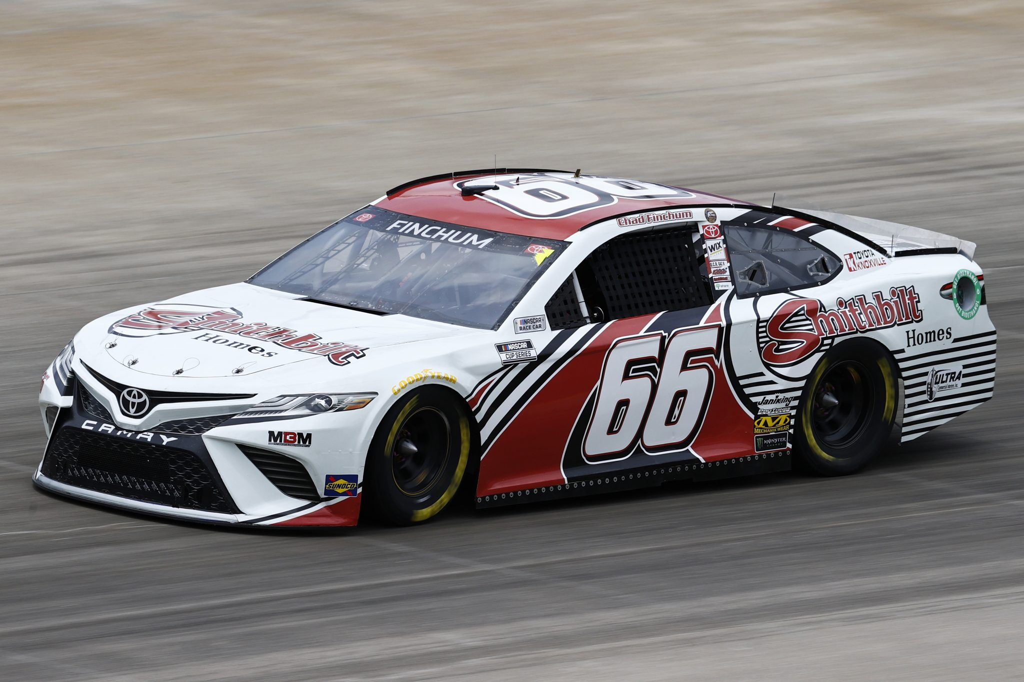 LEBANON, TENNESSEE - JUNE 19: Chad Finchum, driver of the #66 Smithbilt Homes Toyota, drives during practice for the NASCAR Cup Series Ally 400 at Nashville Superspeedway on June 19, 2021 in Lebanon, Tennessee. (Photo by Jared C. Tilton/Getty Images) | Getty Images