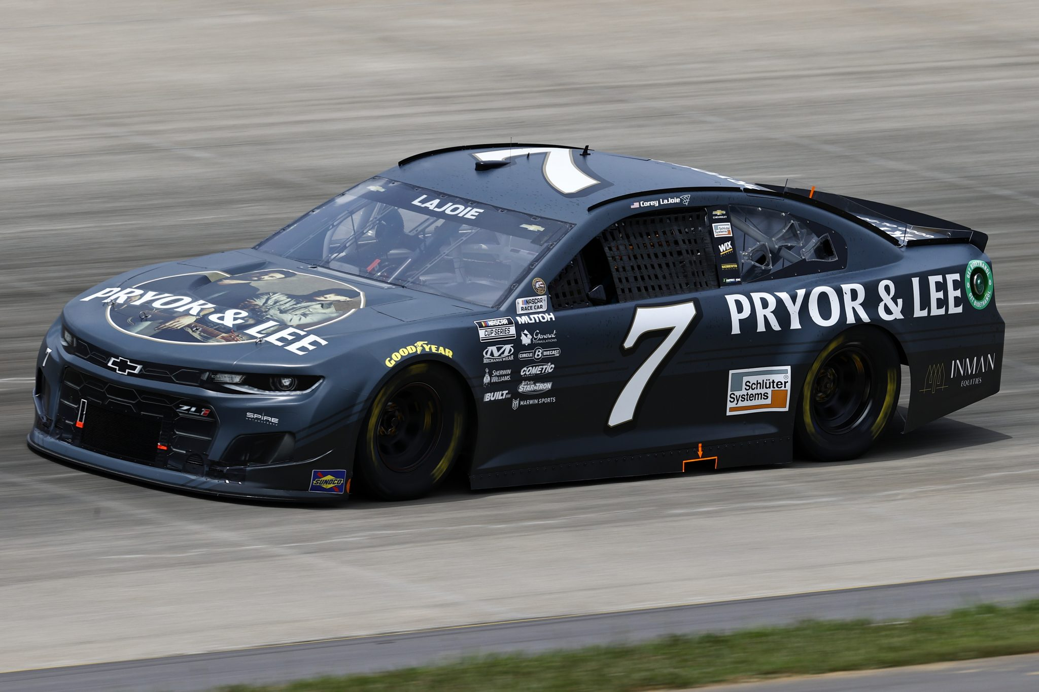 LEBANON, TENNESSEE - JUNE 19: Corey LaJoie, driver of the #7 Pryor & Lee Chevrolet, drives during practice for the NASCAR Cup Series Ally 400 at Nashville Superspeedway on June 19, 2021 in Lebanon, Tennessee. (Photo by Jared C. Tilton/Getty Images)   Getty Images