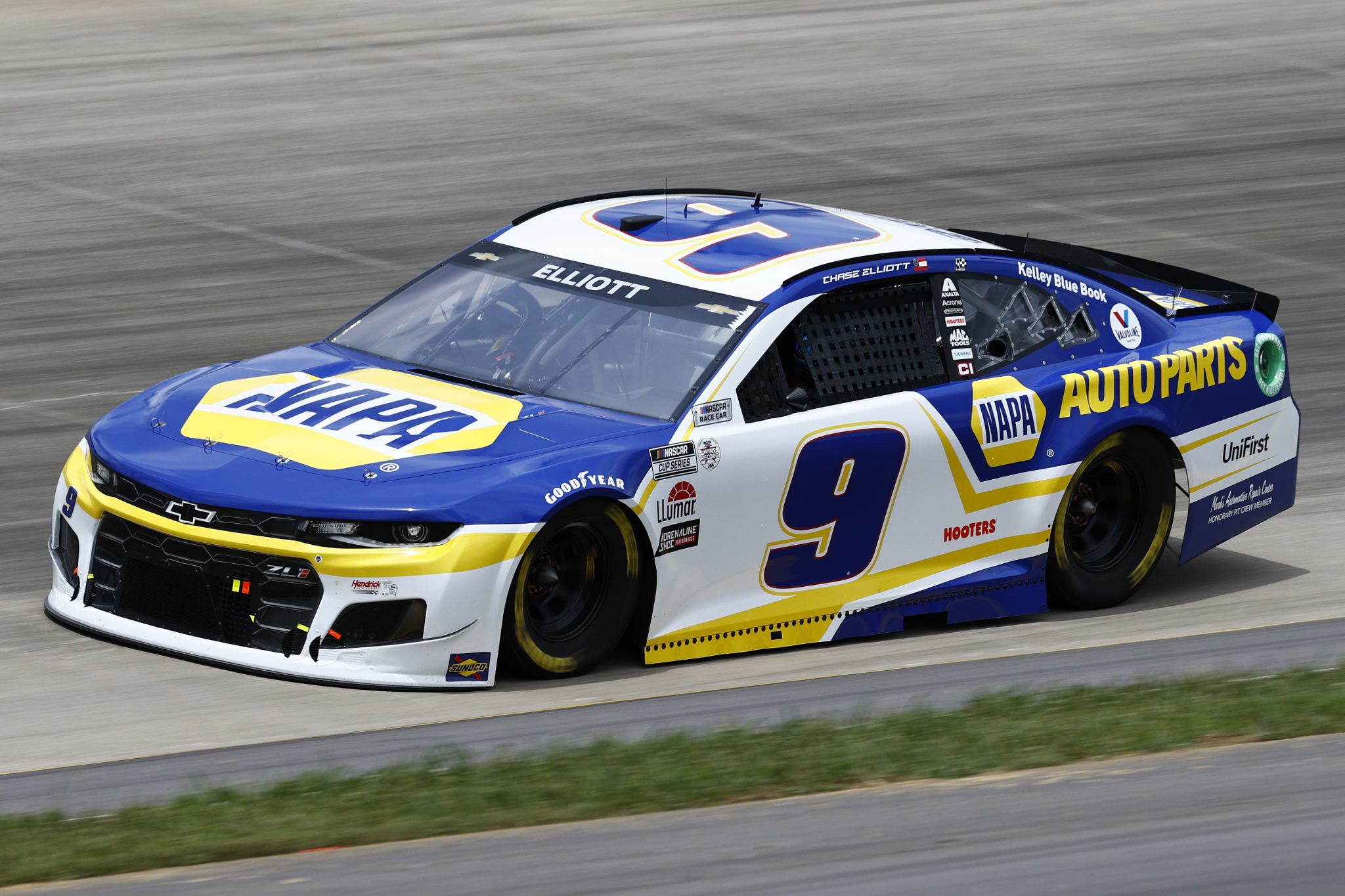 LEBANON, TENNESSEE - JUNE 19: Chase Elliott, driver of the #9 NAPA Auto Parts Chevrolet, drives during practice for the NASCAR Cup Series Ally 400 at Nashville Superspeedway on June 19, 2021 in Lebanon, Tennessee. (Photo by Jared C. Tilton/Getty Images)   Getty Images