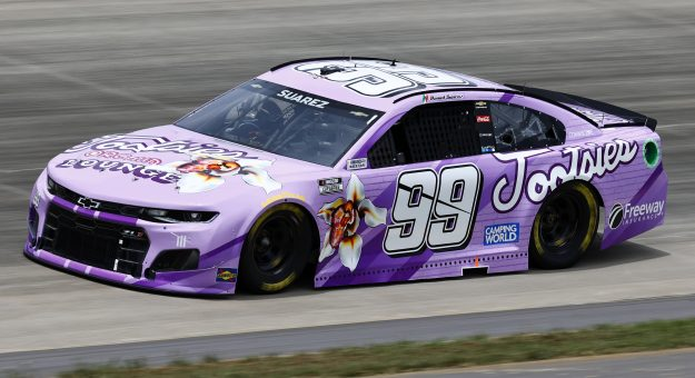 LEBANON, TENNESSEE - JUNE 19: Daniel Suarez, driver of the #99 Tootsies Orchid Lounge Chevrolet, drives during practice for the NASCAR Cup Series Ally 400 at Nashville Superspeedway on June 19, 2021 in Lebanon, Tennessee. (Photo by Jared C. Tilton/Getty Images) | Getty Images