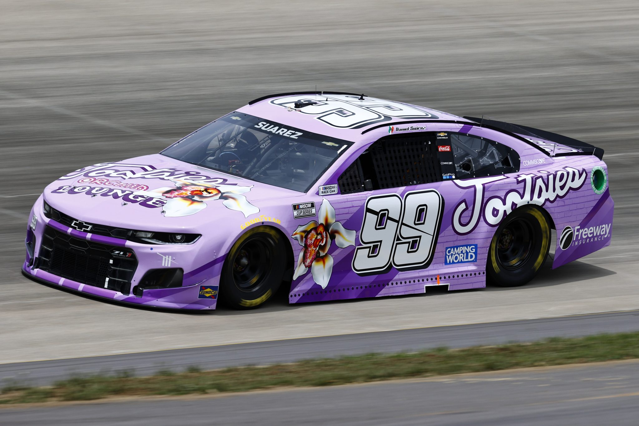 LEBANON, TENNESSEE - JUNE 19: Daniel Suarez, driver of the #99 Tootsies Orchid Lounge Chevrolet, drives during practice for the NASCAR Cup Series Ally 400 at Nashville Superspeedway on June 19, 2021 in Lebanon, Tennessee. (Photo by Jared C. Tilton/Getty Images)   Getty Images