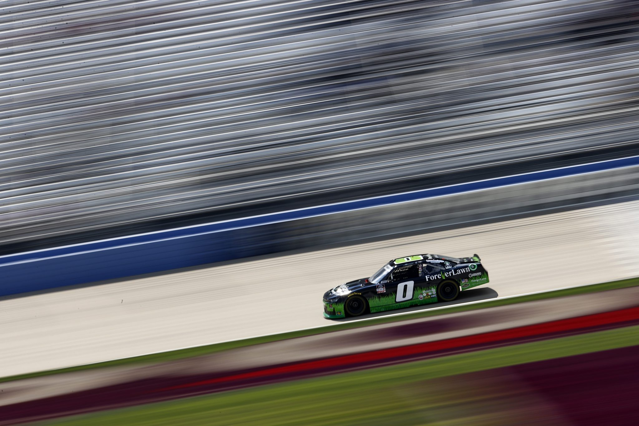 LEBANON, TENNESSEE - JUNE 18: Jeffrey Earnhardt, driver of the #0 ForeverLawn Chevrolet, drives during practice for the NASCAR Xfinity Series Tennessee Lottery 250 at Nashville Superspeedway on June 18, 2021 in Lebanon, Tennessee. (Photo by Jared C. Tilton/Getty Images) | Getty Images