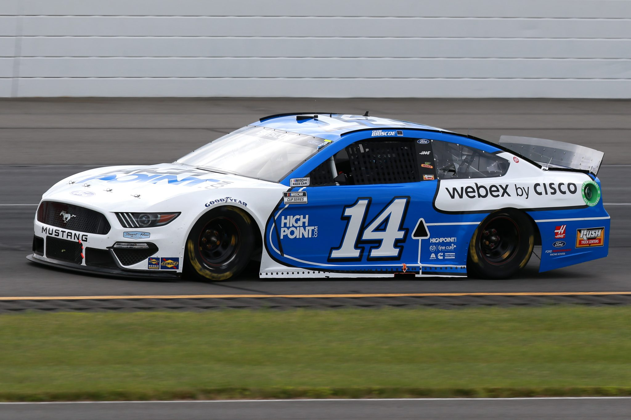 LONG POND, PENNSYLVANIA - JUNE 26: Chase Briscoe, driver of the #14 HighPoint.com/Webex by Cisco Ford, drives during the NASCAR Cup Series Pocono Organics CBD 325 at Pocono Raceway on June 26, 2021 in Long Pond, Pennsylvania. (Photo by Sean Gardner/Getty Images)   Getty Images