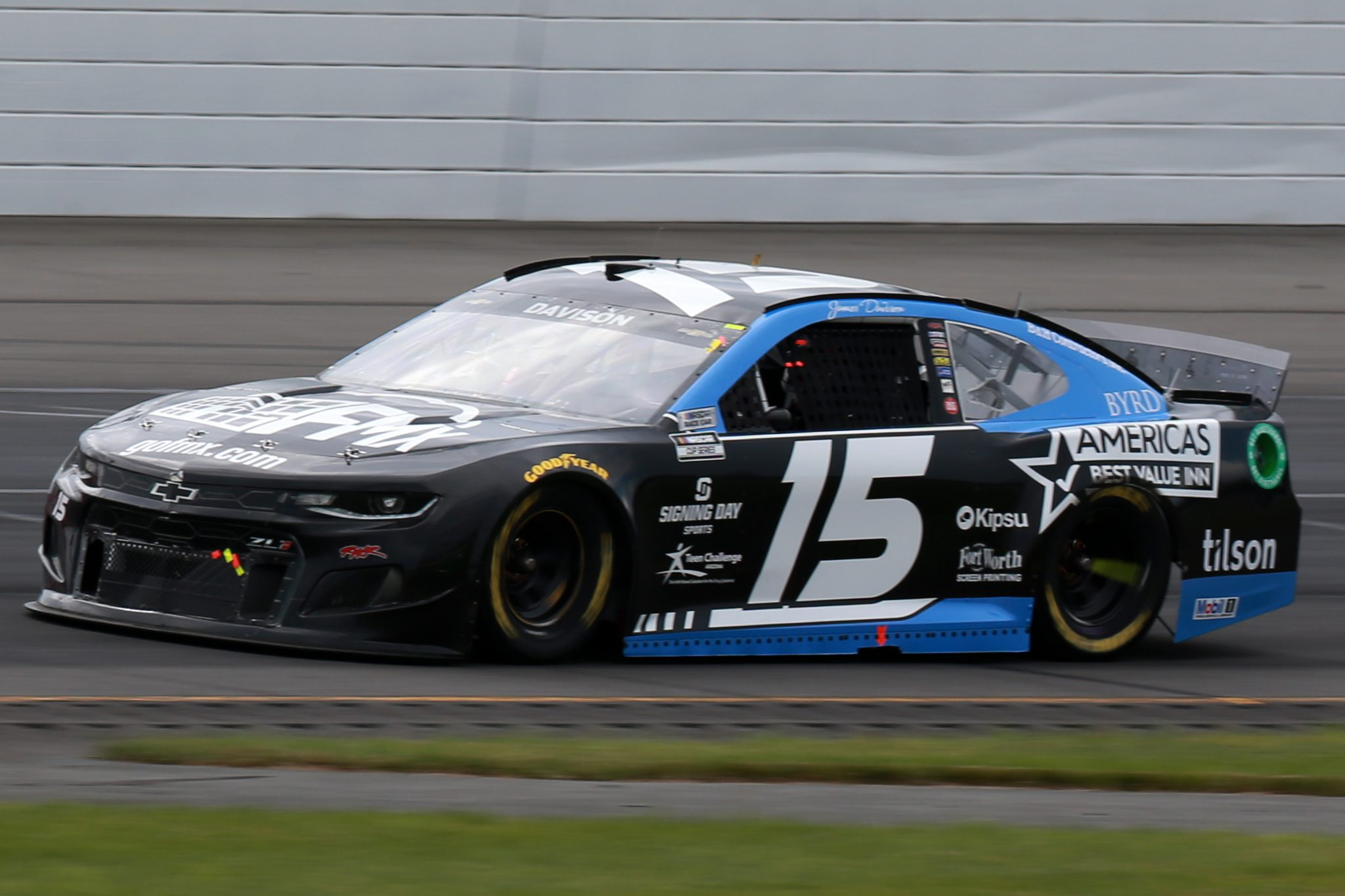 LONG POND, PENNSYLVANIA - JUNE 26: James Davison, driver of the #15 Chevrolet, drives during the NASCAR Cup Series Pocono Organics CBD 325 at Pocono Raceway on June 26, 2021 in Long Pond, Pennsylvania. (Photo by Sean Gardner/Getty Images)   Getty Images