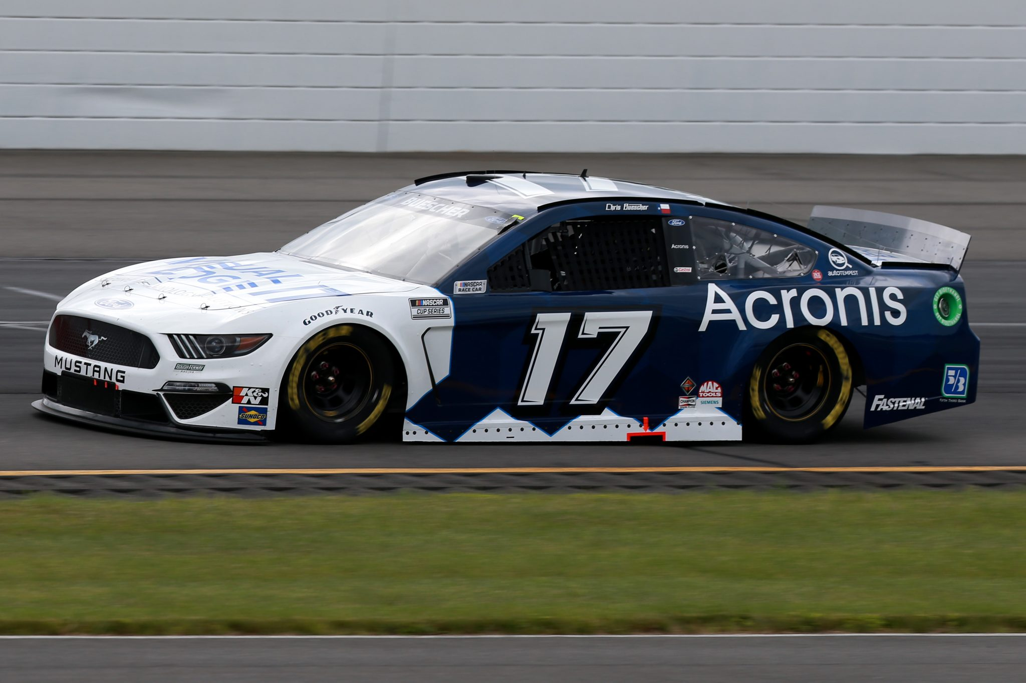 LONG POND, PENNSYLVANIA - JUNE 26: Chris Buescher, driver of the #17 Acronis Ford, drives during the NASCAR Cup Series Pocono Organics CBD 325 at Pocono Raceway on June 26, 2021 in Long Pond, Pennsylvania. (Photo by Sean Gardner/Getty Images) | Getty Images