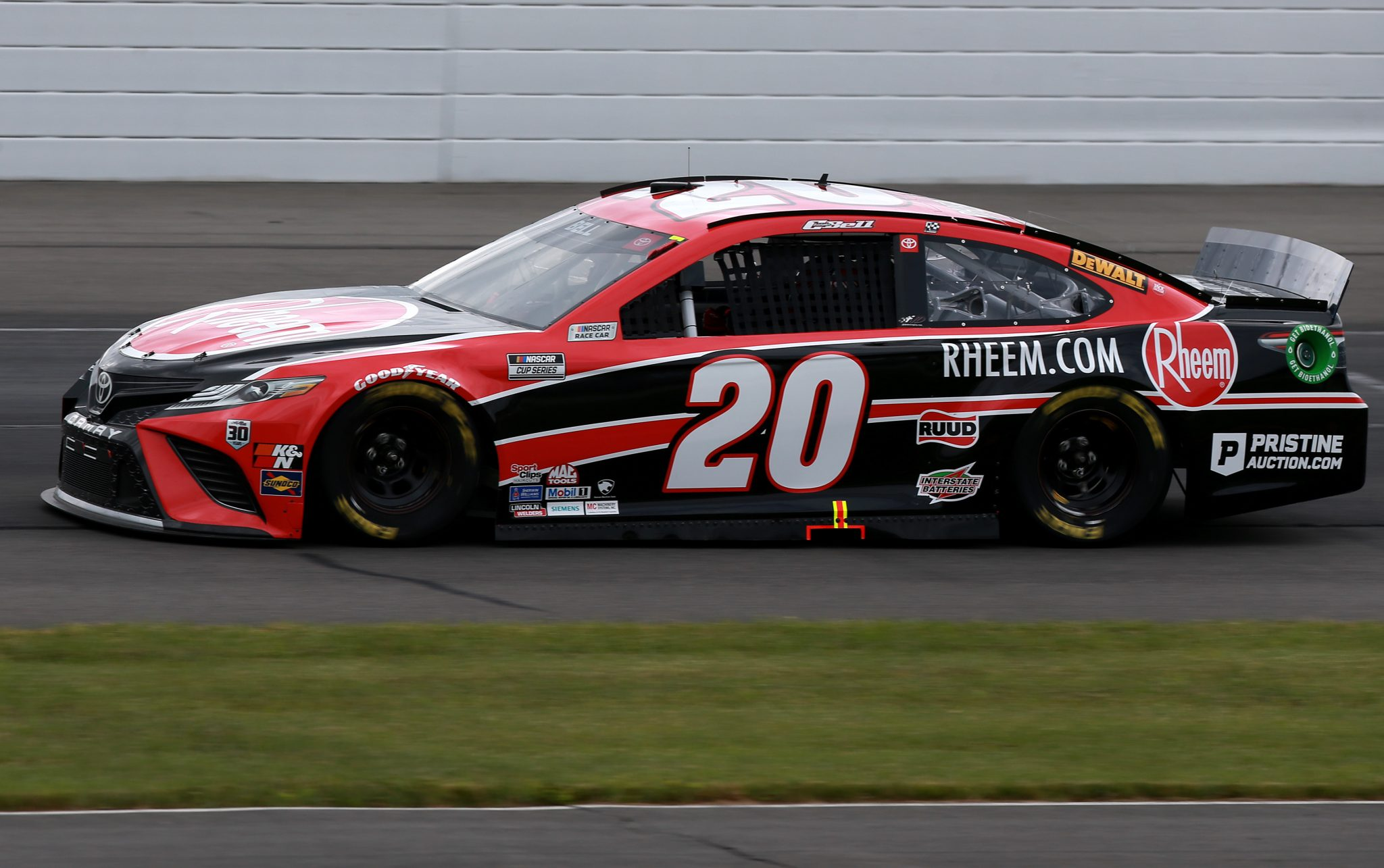 LONG POND, PENNSYLVANIA - JUNE 26: Christopher Bell, driver of the #20 Rheem Toyota, drives during the NASCAR Cup Series Pocono Organics CBD 325 at Pocono Raceway on June 26, 2021 in Long Pond, Pennsylvania. (Photo by Sean Gardner/Getty Images) | Getty Images