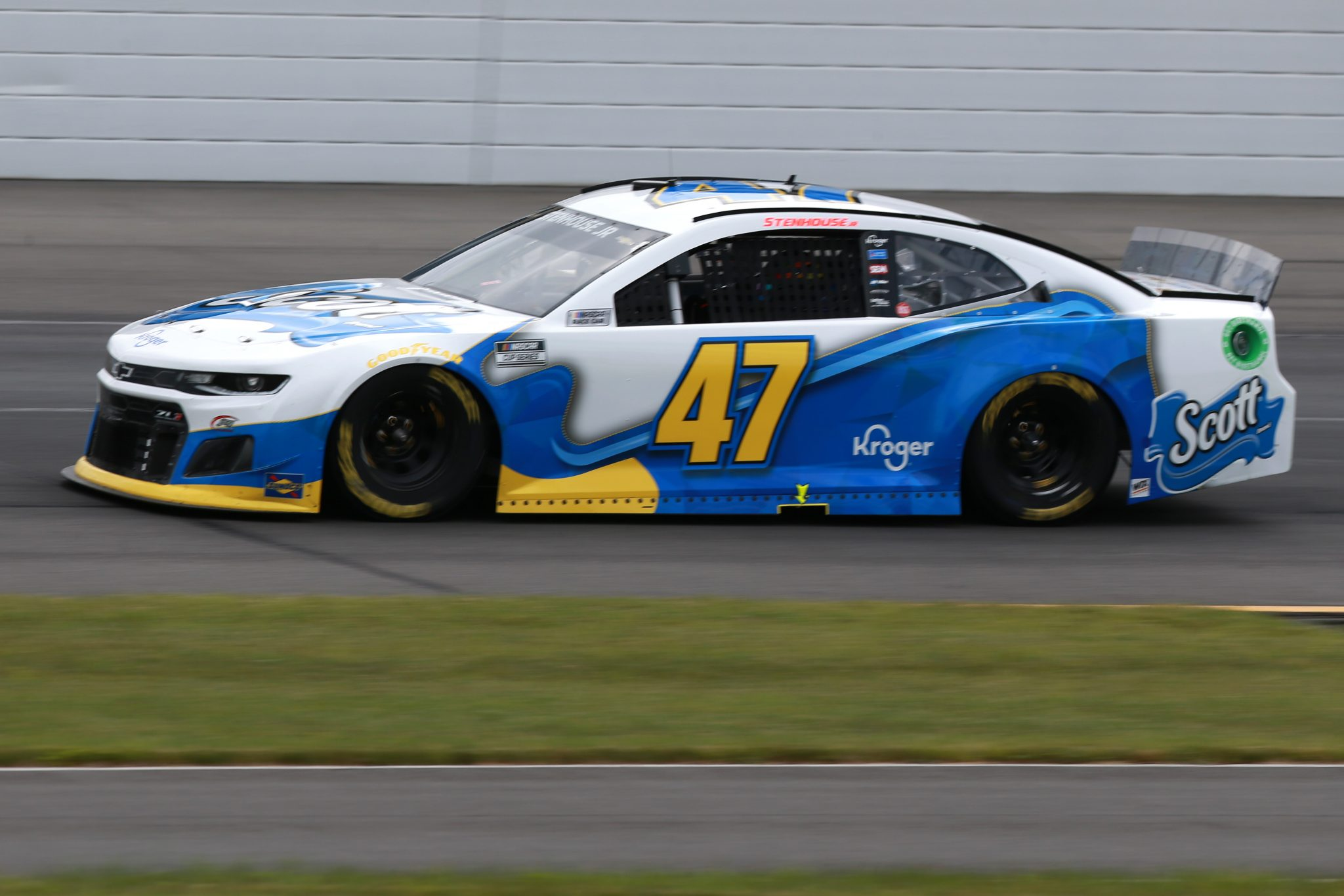 LONG POND, PENNSYLVANIA - JUNE 26: Ricky Stenhouse Jr., driver of the #47 Scott Brand Chevrolet, drives during the NASCAR Cup Series Pocono Organics CBD 325 at Pocono Raceway on June 26, 2021 in Long Pond, Pennsylvania. (Photo by Sean Gardner/Getty Images)   Getty Images