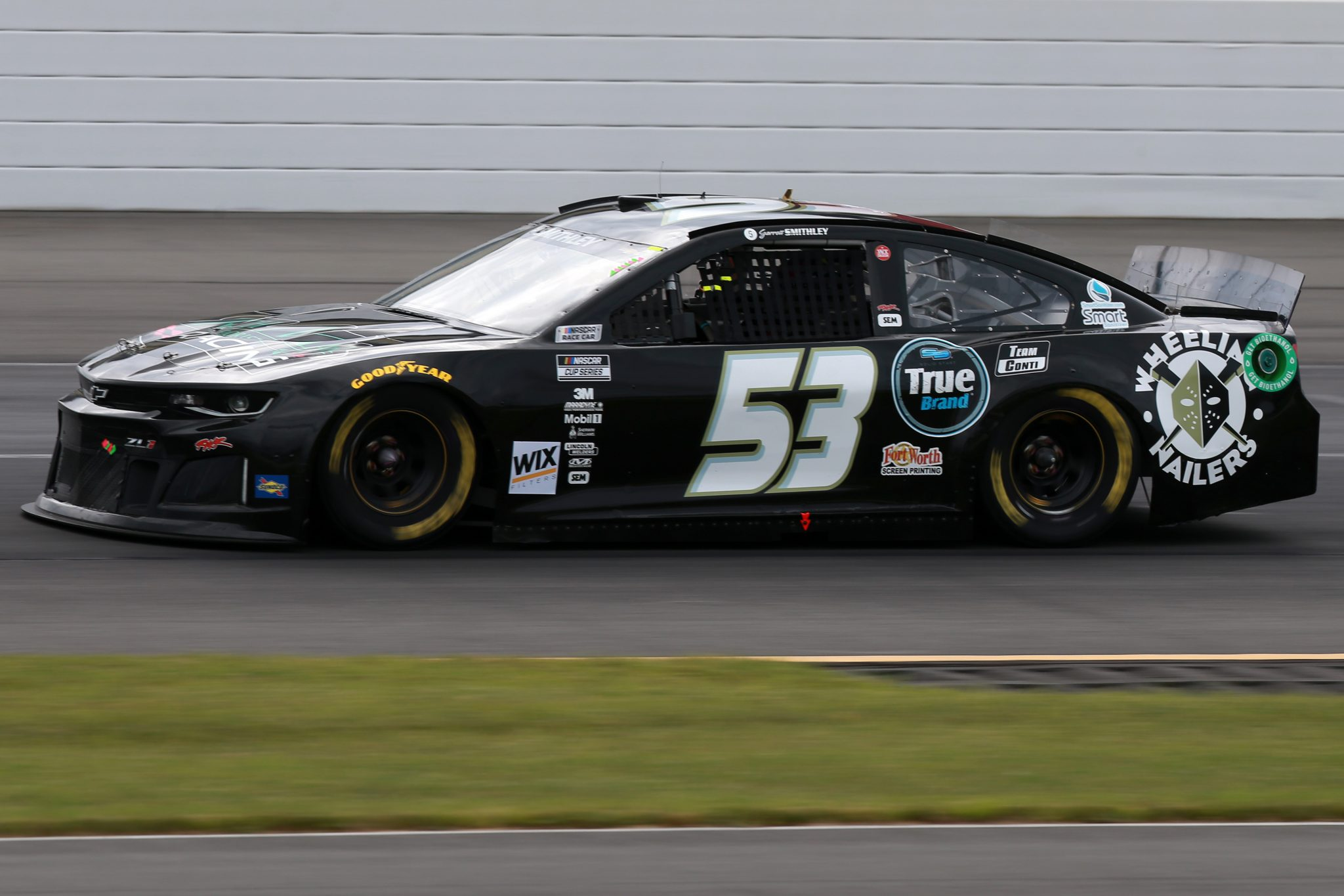 LONG POND, PENNSYLVANIA - JUNE 26: Garrett Smithley, driver of the #53 Chevrolet, drives during the NASCAR Cup Series Pocono Organics CBD 325 at Pocono Raceway on June 26, 2021 in Long Pond, Pennsylvania. (Photo by Sean Gardner/Getty Images) | Getty Images