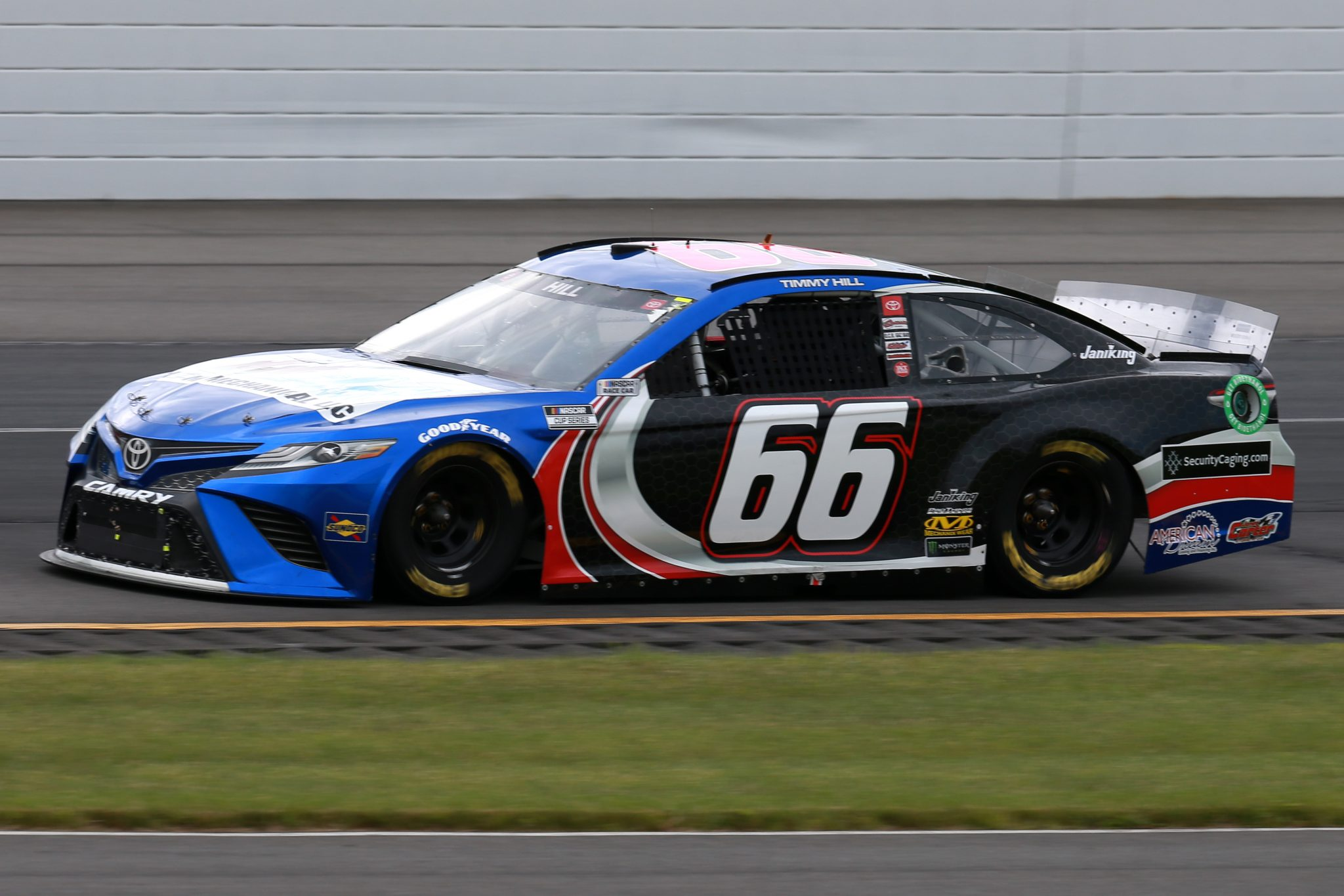 LONG POND, PENNSYLVANIA - JUNE 26: Timmy Hill, driver of the #66 M&M Mechanical LLC Toyota, drives during the NASCAR Cup Series Pocono Organics CBD 325 at Pocono Raceway on June 26, 2021 in Long Pond, Pennsylvania. (Photo by Sean Gardner/Getty Images) | Getty Images