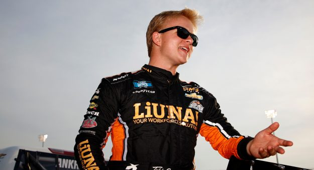 LEBANON, TENNESSEE - JUNE 18: Tyler Ankrum, driver of the #26 LiUNA! Chevrolet, waits on the grid prior to the NASCAR Camping World Truck Series Rackley Roofing 200 at Nashville Superspeedway on June 18, 2021 in Lebanon, Tennessee. (Photo by Jared C. Tilton/Getty Images) | Getty Images