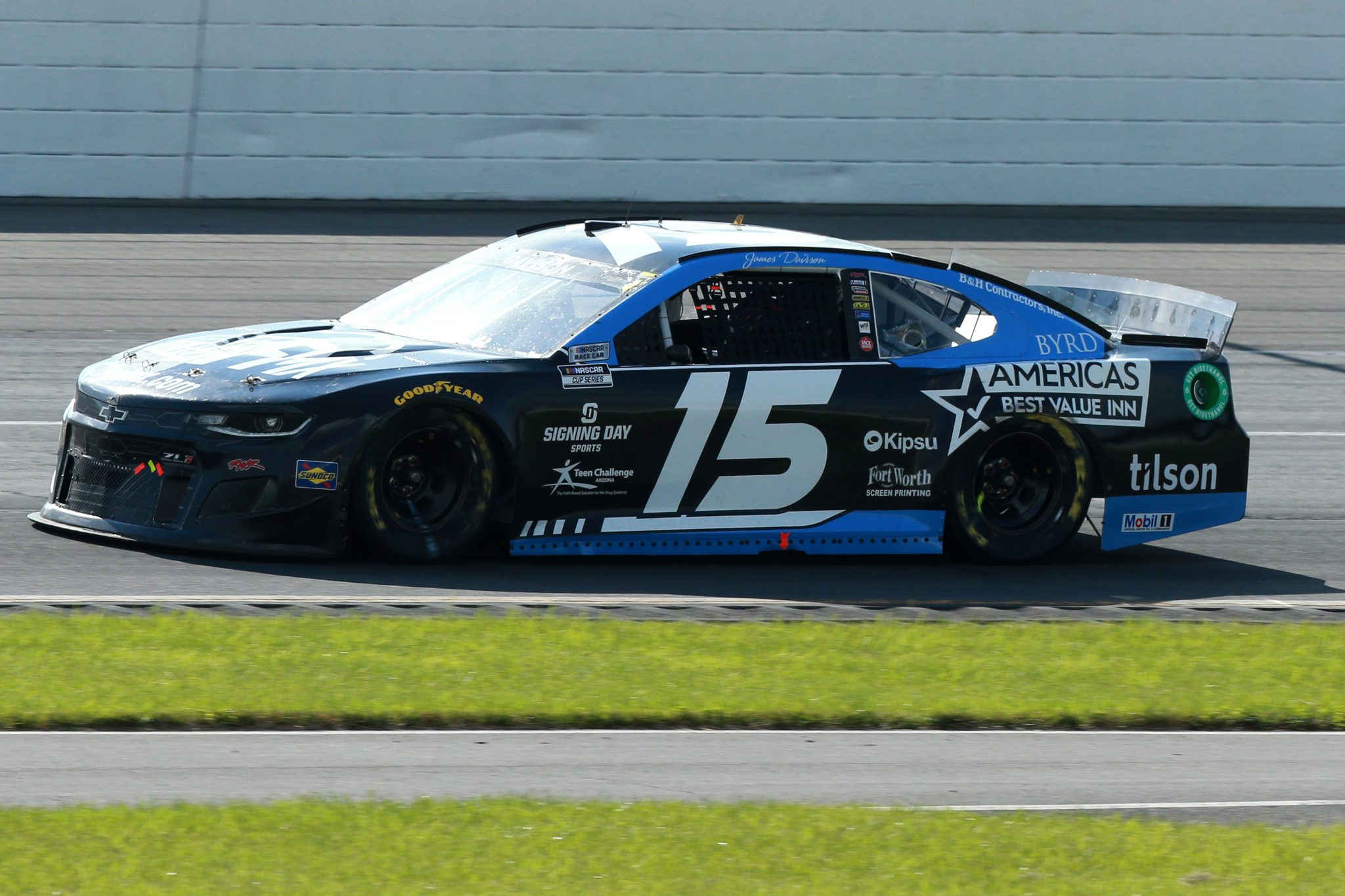 LONG POND, PENNSYLVANIA - JUNE 27: James Davison, driver of the #15 Go FMX Chevrolet, drives during the NASCAR Cup Series Explore the Pocono Mountains 350 at Pocono Raceway on June 27, 2021 in Long Pond, Pennsylvania. (Photo by Sean Gardner/Getty Images) | Getty Images
