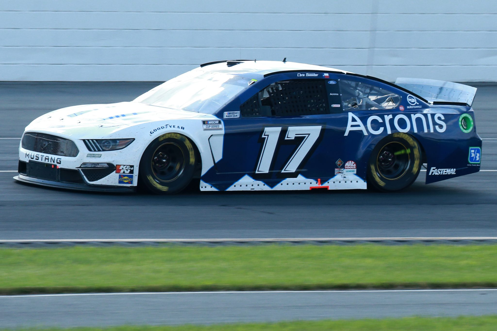LONG POND, PENNSYLVANIA - JUNE 27: Chris Buescher, driver of the #17 Acronis Ford, drives during the NASCAR Cup Series Explore the Pocono Mountains 350 at Pocono Raceway on June 27, 2021 in Long Pond, Pennsylvania. (Photo by Sean Gardner/Getty Images) | Getty Images