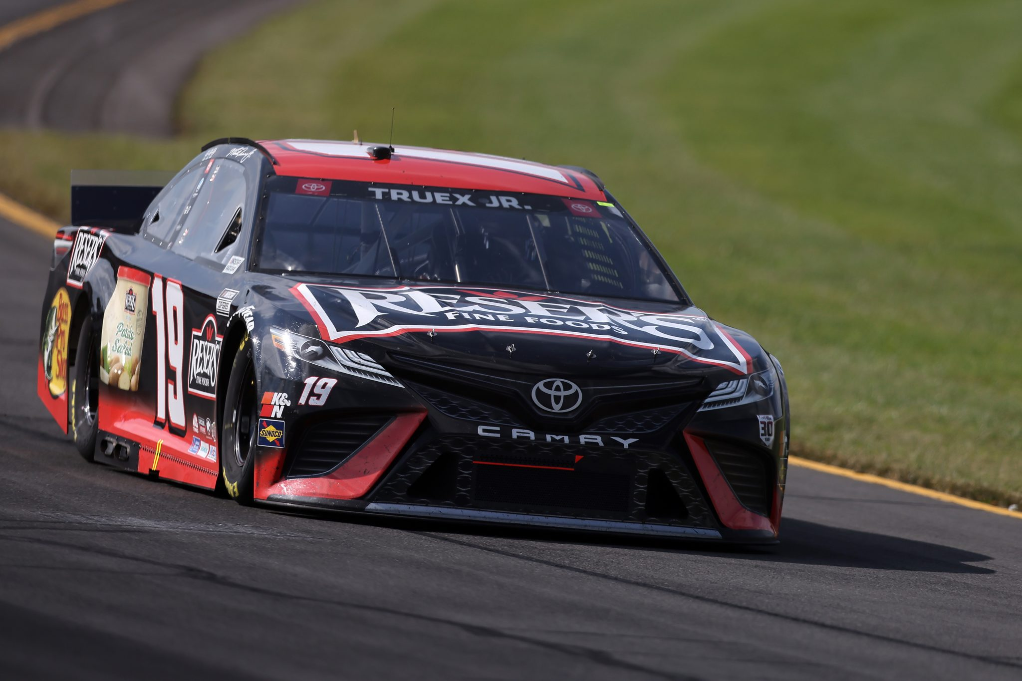 LONG POND, PENNSYLVANIA - JUNE 27: Martin Truex Jr., driver of the #19 STANLEY Toyota, drives during the NASCAR Cup Series Explore the Pocono Mountains 350 at Pocono Raceway on June 27, 2021 in Long Pond, Pennsylvania. (Photo by James Gilbert/Getty Images) | Getty Images