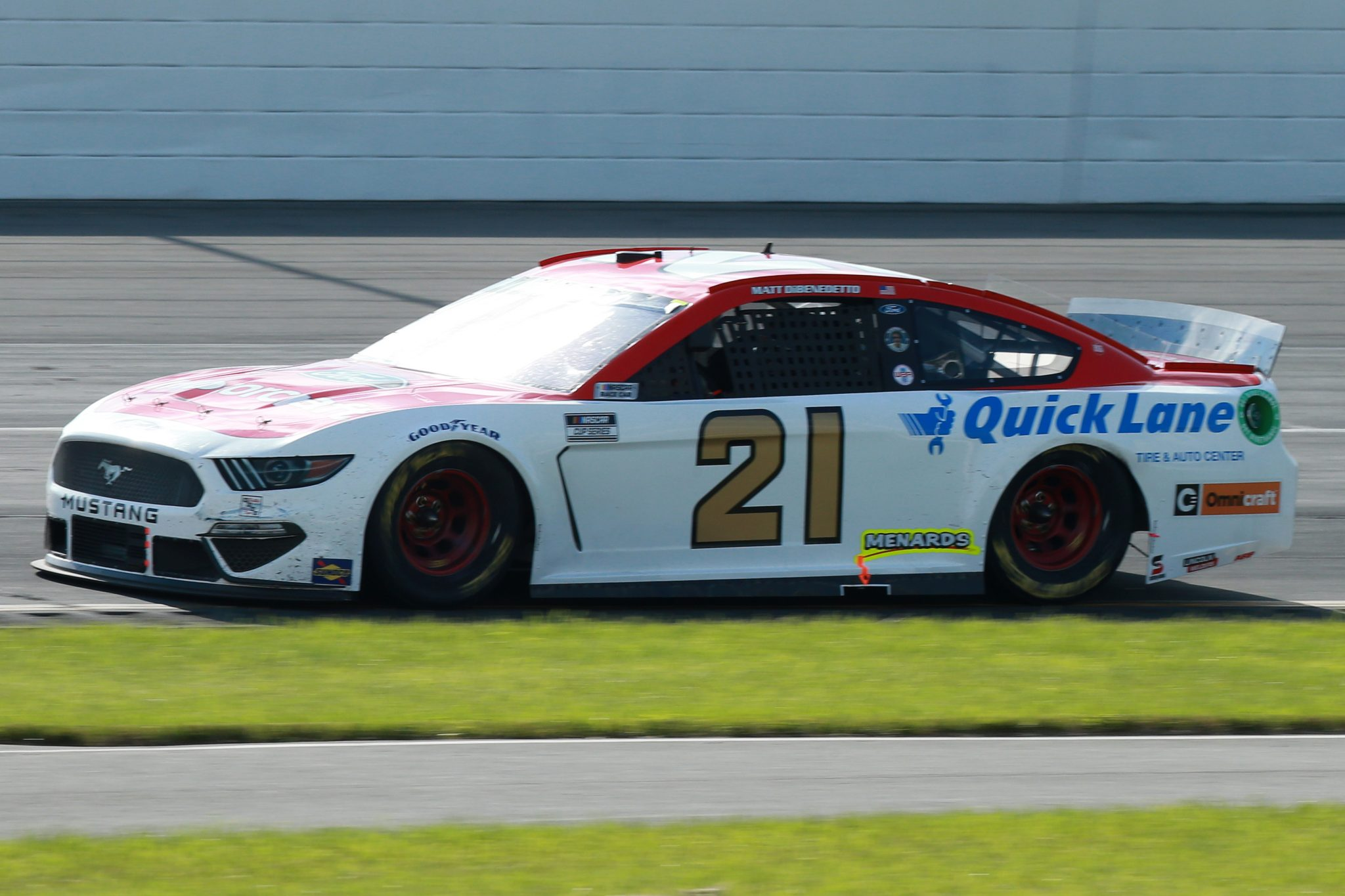 LONG POND, PENNSYLVANIA - JUNE 27: Matt DiBenedetto, driver of the #21 Motorcraft/Quick Lane Ford, drives during the NASCAR Cup Series Explore the Pocono Mountains 350 at Pocono Raceway on June 27, 2021 in Long Pond, Pennsylvania. (Photo by Sean Gardner/Getty Images) | Getty Images
