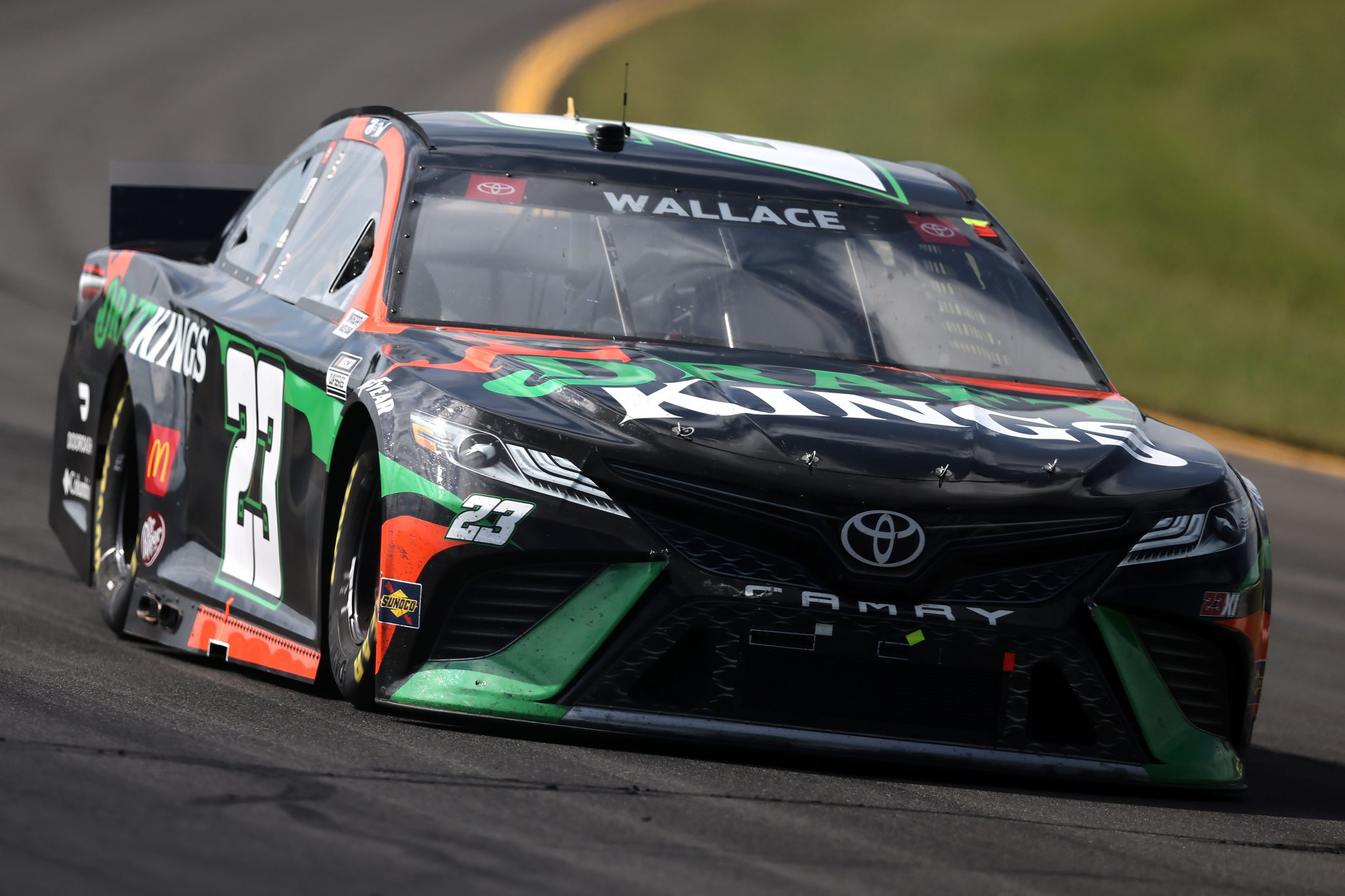 LONG POND, PENNSYLVANIA - JUNE 27: Bubba Wallace, driver of the #23 DraftKings Toyota, drives during the NASCAR Cup Series Explore the Pocono Mountains 350 at Pocono Raceway on June 27, 2021 in Long Pond, Pennsylvania. (Photo by James Gilbert/Getty Images) | Getty Images