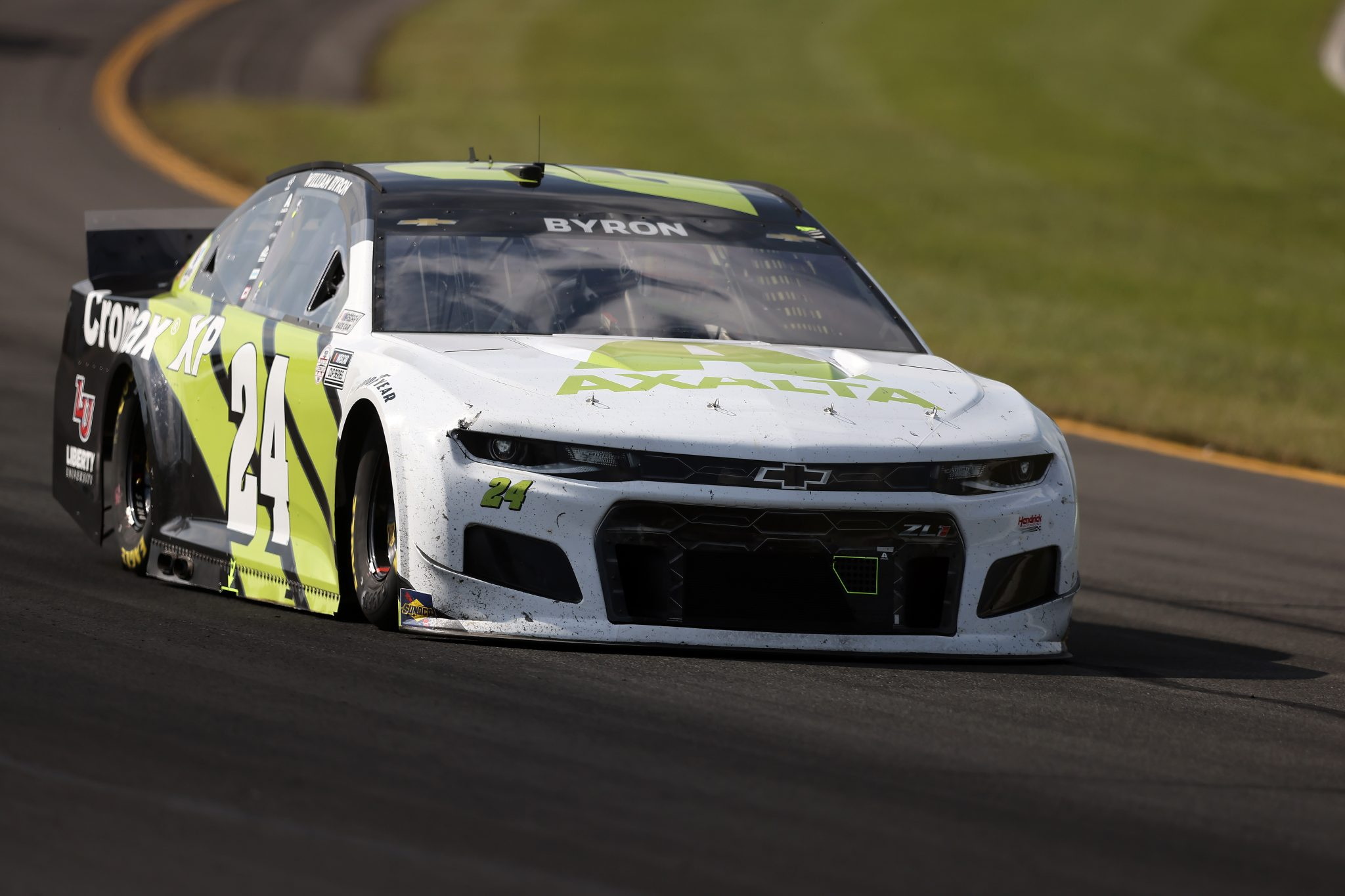 LONG POND, PENNSYLVANIA - JUNE 27: William Byron, driver of the #24 Axalta Color of the Year Chevrolet, drives during the NASCAR Cup Series Explore the Pocono Mountains 350 at Pocono Raceway on June 27, 2021 in Long Pond, Pennsylvania. (Photo by James Gilbert/Getty Images) | Getty Images