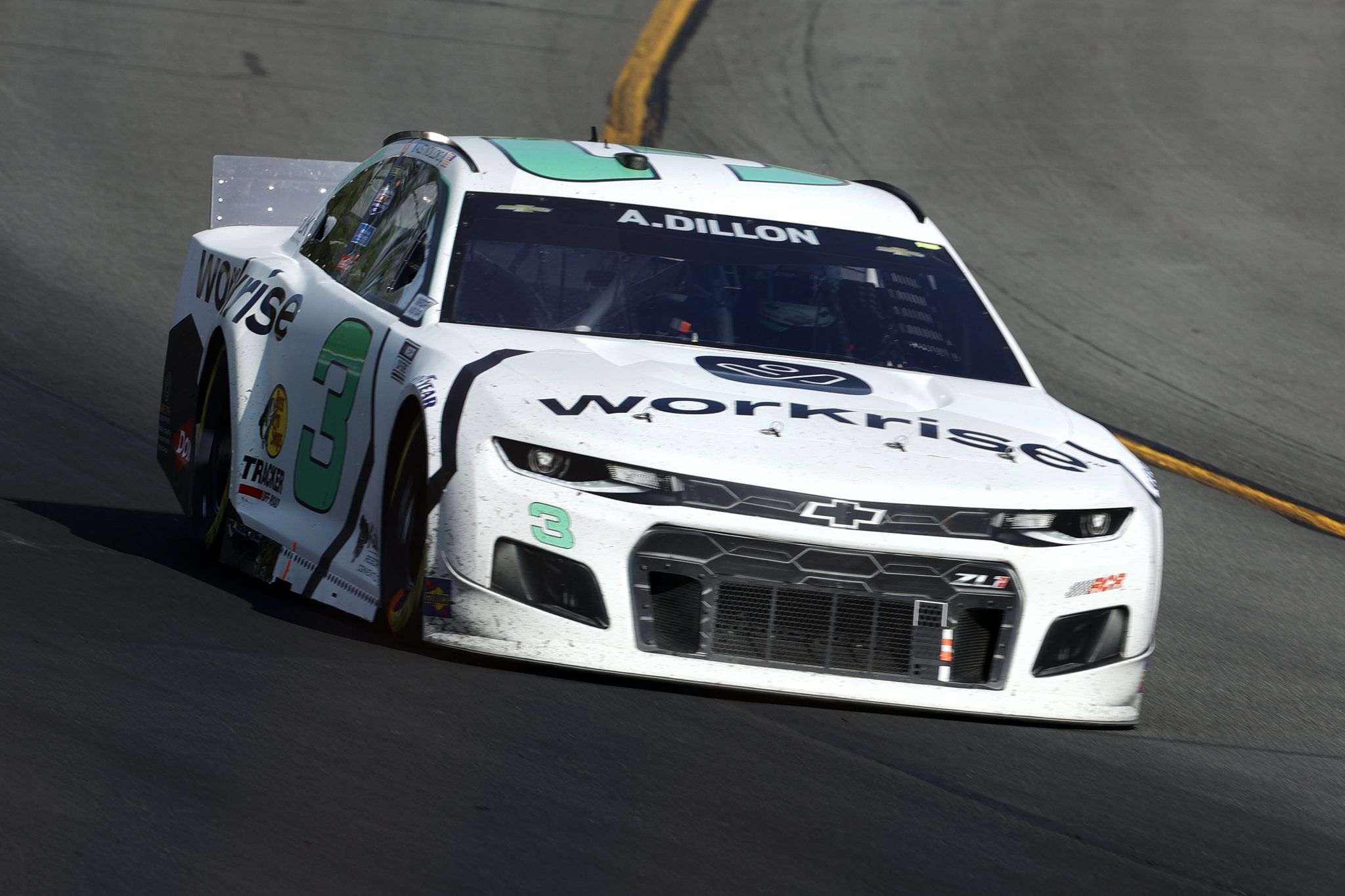 LONG POND, PENNSYLVANIA - JUNE 27: Austin Dillon, driver of the #3 Workrise Chevrolet, drives during the NASCAR Cup Series Explore the Pocono Mountains 350 at Pocono Raceway on June 27, 2021 in Long Pond, Pennsylvania. (Photo by Tim Nwachukwu/Getty Images) | Getty Images