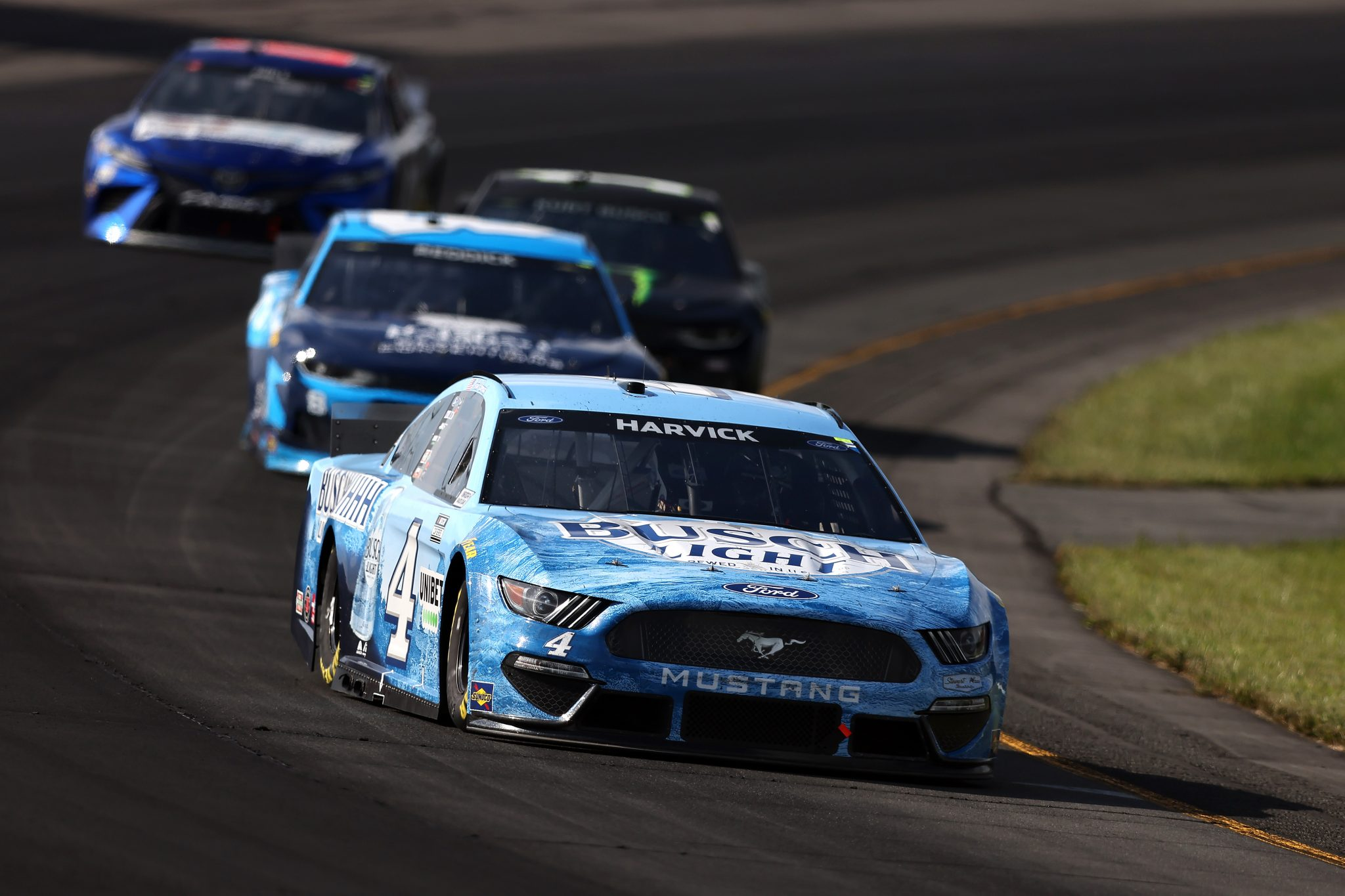 LONG POND, PENNSYLVANIA - JUNE 27: Kevin Harvick, driver of the #4 Busch Light Ford, drives during the NASCAR Cup Series Explore the Pocono Mountains 350 at Pocono Raceway on June 27, 2021 in Long Pond, Pennsylvania. (Photo by James Gilbert/Getty Images) | Getty Images