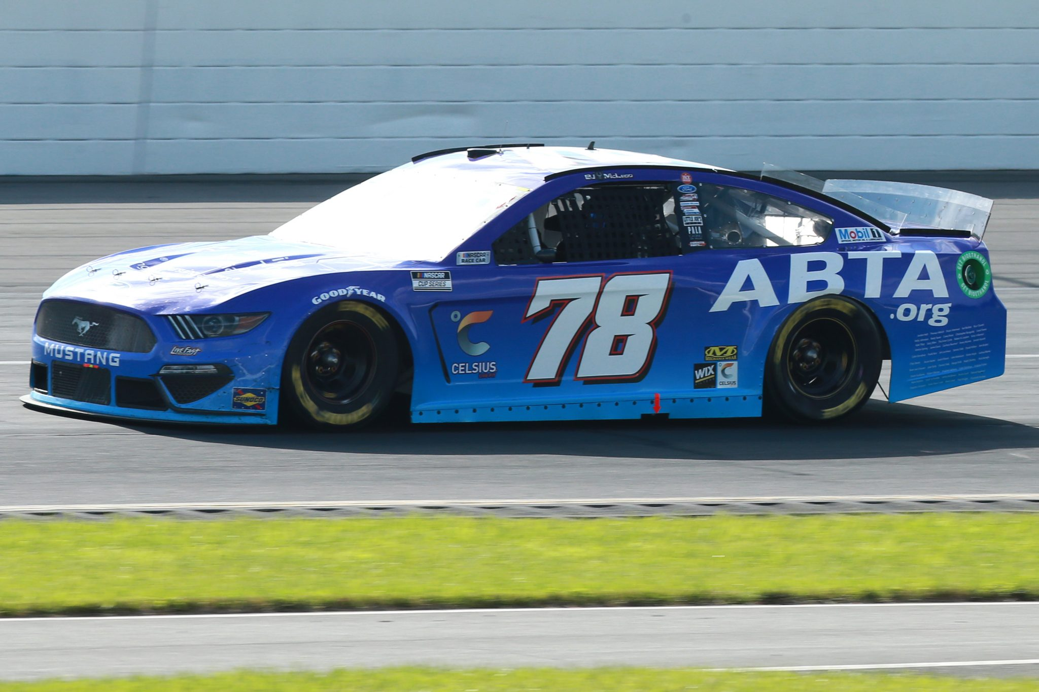 LONG POND, PENNSYLVANIA - JUNE 27: BJ McLeod, driver of the #78 American Brain Tumor Association Ford, drives during the NASCAR Cup Series Explore the Pocono Mountains 350 at Pocono Raceway on June 27, 2021 in Long Pond, Pennsylvania. (Photo by Sean Gardner/Getty Images) | Getty Images