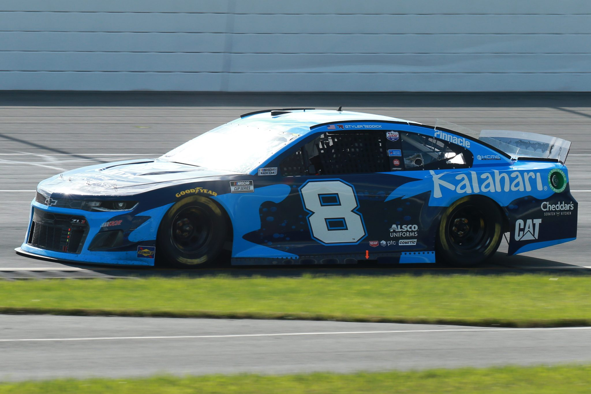 LONG POND, PENNSYLVANIA - JUNE 27: Tyler Reddick, driver of the #8 Kalahari Resorts & Conventions Chevrolet, drives during the NASCAR Cup Series Explore the Pocono Mountains 350 at Pocono Raceway on June 27, 2021 in Long Pond, Pennsylvania. (Photo by Sean Gardner/Getty Images) | Getty Images