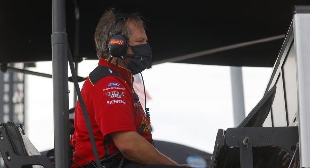 HAMPTON, GEORGIA - JUNE 07: Crew chief Todd Gordon looks on during the NASCAR Cup Series Folds of Honor QuikTrip 500 at Atlanta Motor Speedway on June 07, 2020 in Hampton, Georgia. (Photo by Chris Graythen/Getty Images)   Getty Images