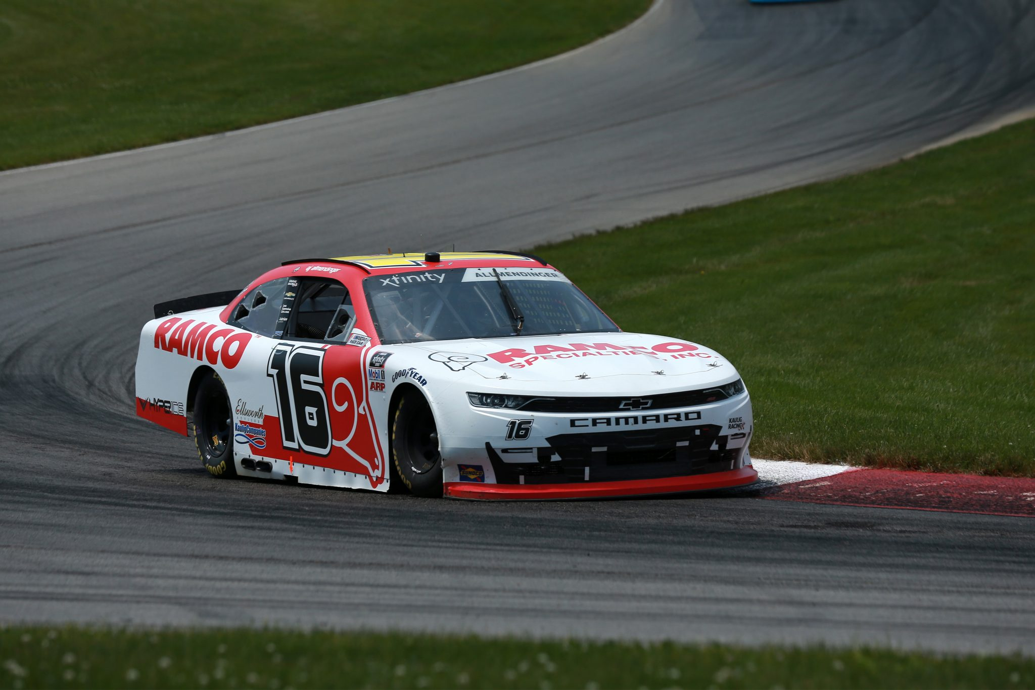 LEXINGTON, OHIO - JUNE 05: AJ Allmendinger, driver of the #16 RAMCO Specialties Inc Chevrolet, drives during the NASCAR Xfinity Series B&L Transport 170 at Mid-Ohio Sports Car Course on June 05, 2021 in Lexington, Ohio. (Photo by Sean Gardner/Getty Images) | Getty Images
